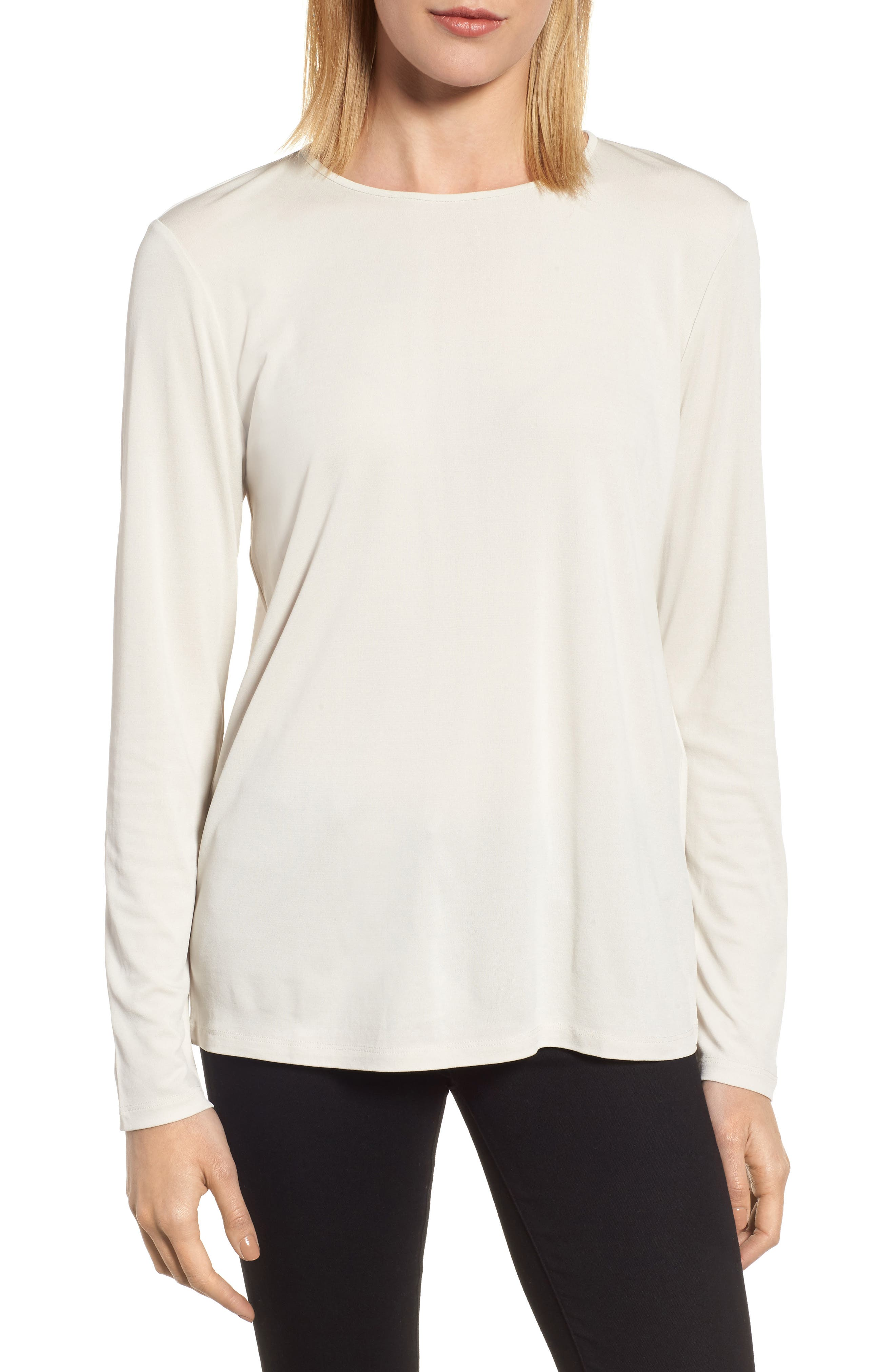 Main Image - Eileen Fisher Silk Knit Top