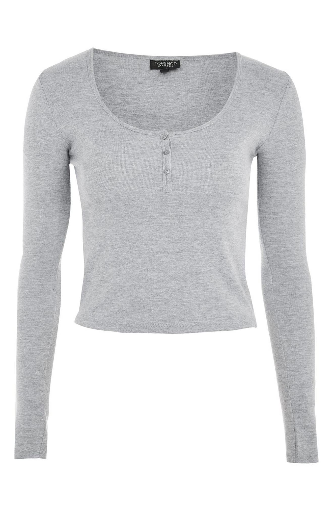 Alternate Image 4  - Topshop Scoop Neck Henley