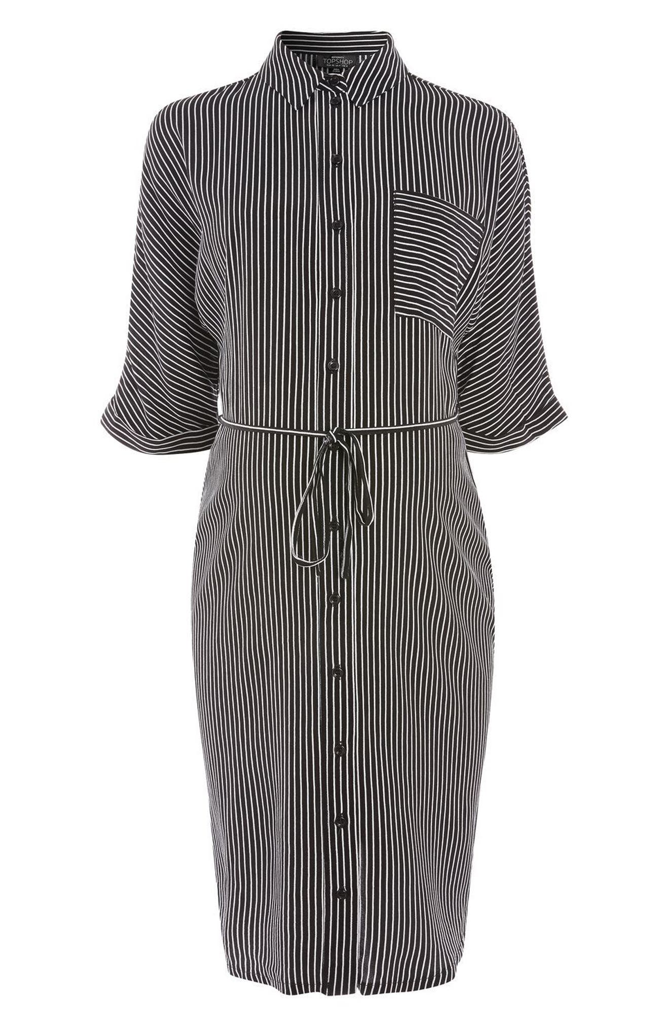 Alternate Image 5  - Topshop Kady Stripe Maternity Shirtdress
