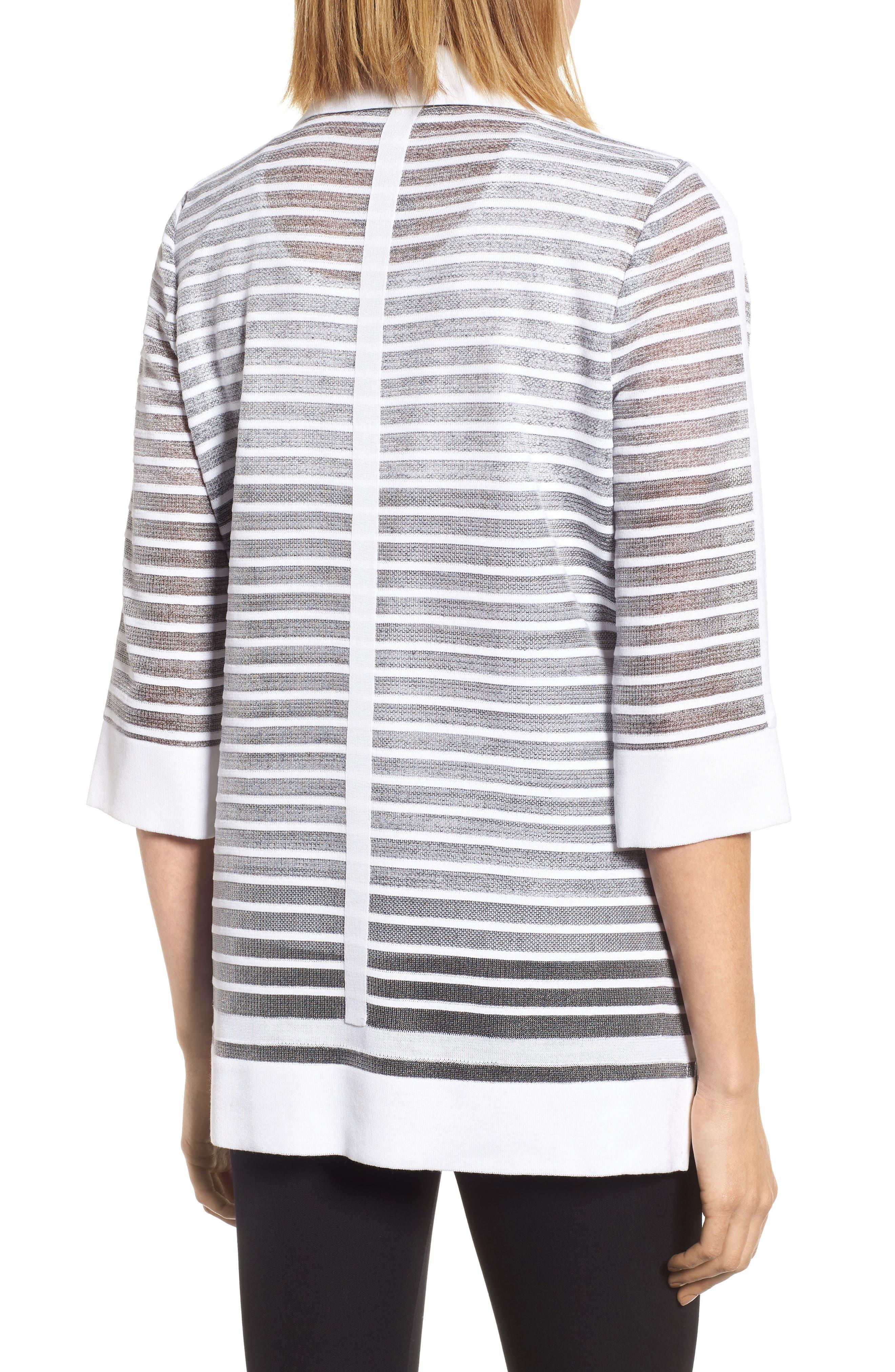 Alternate Image 2  - Ming Wang Stripe Jacquard Jacket