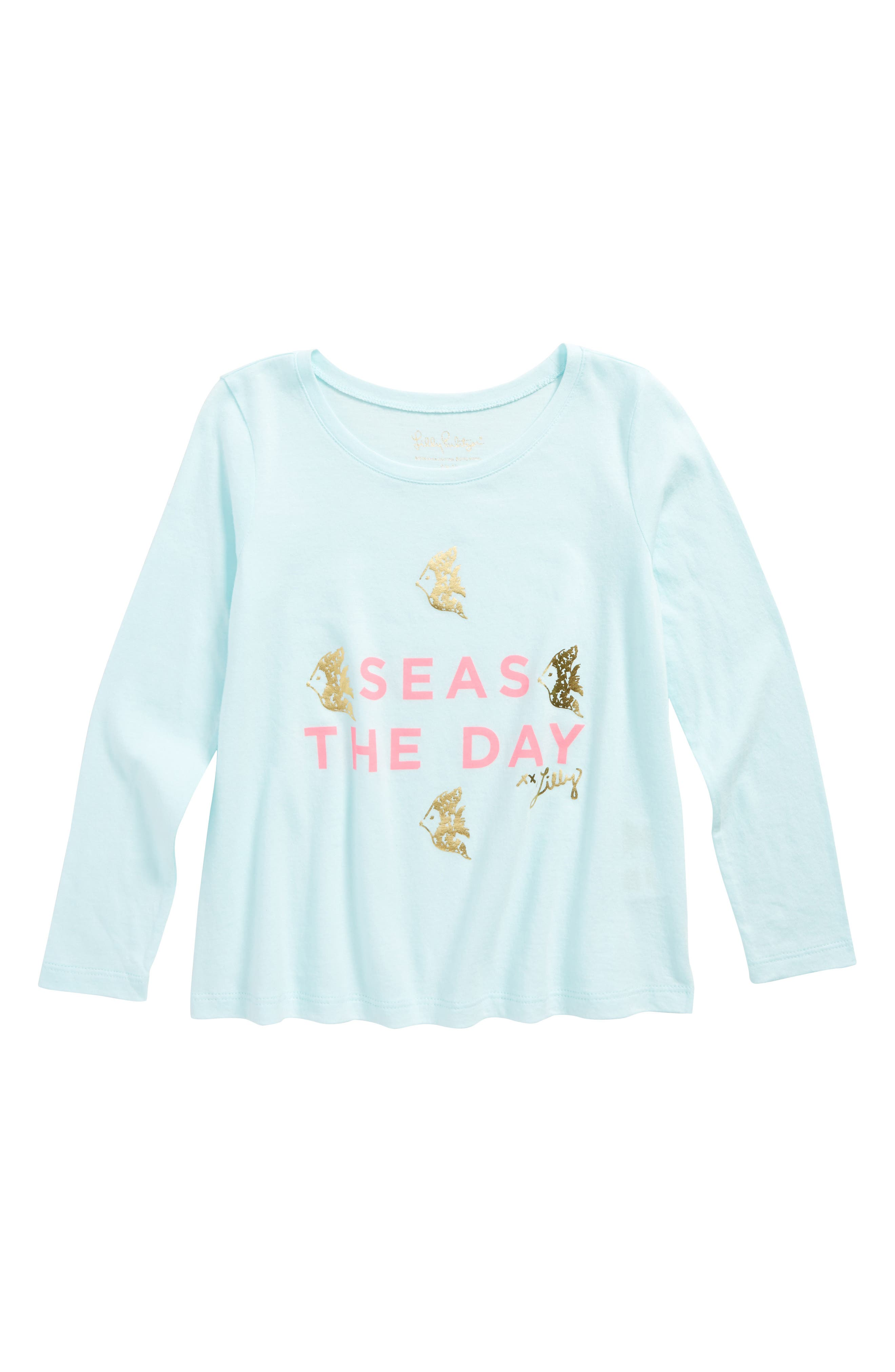 Kay Graphic Tee,                         Main,                         color, Blue/ Pink Seas The Day