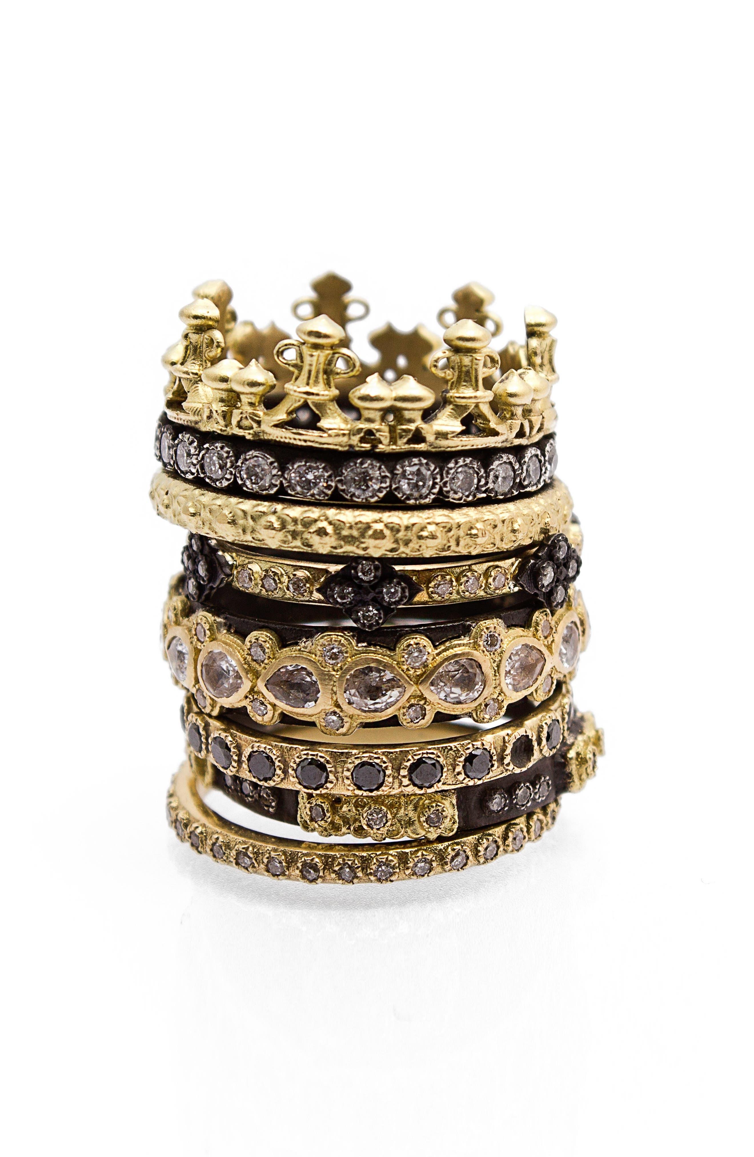 Alternate Image 3  - Armenta Old World Lacy Eternity Diamond & Sapphire Ring
