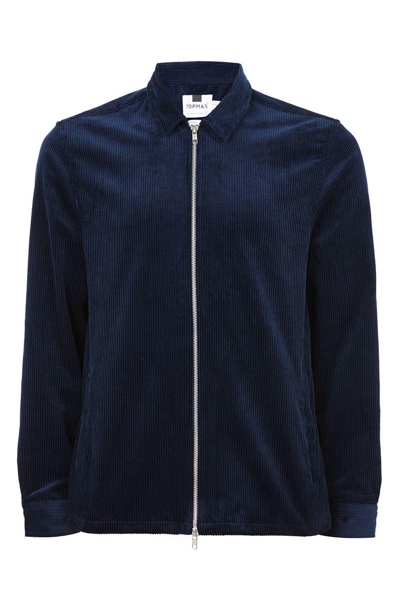 Alternate Image 4  - Topman Corduroy Shirt Jacket