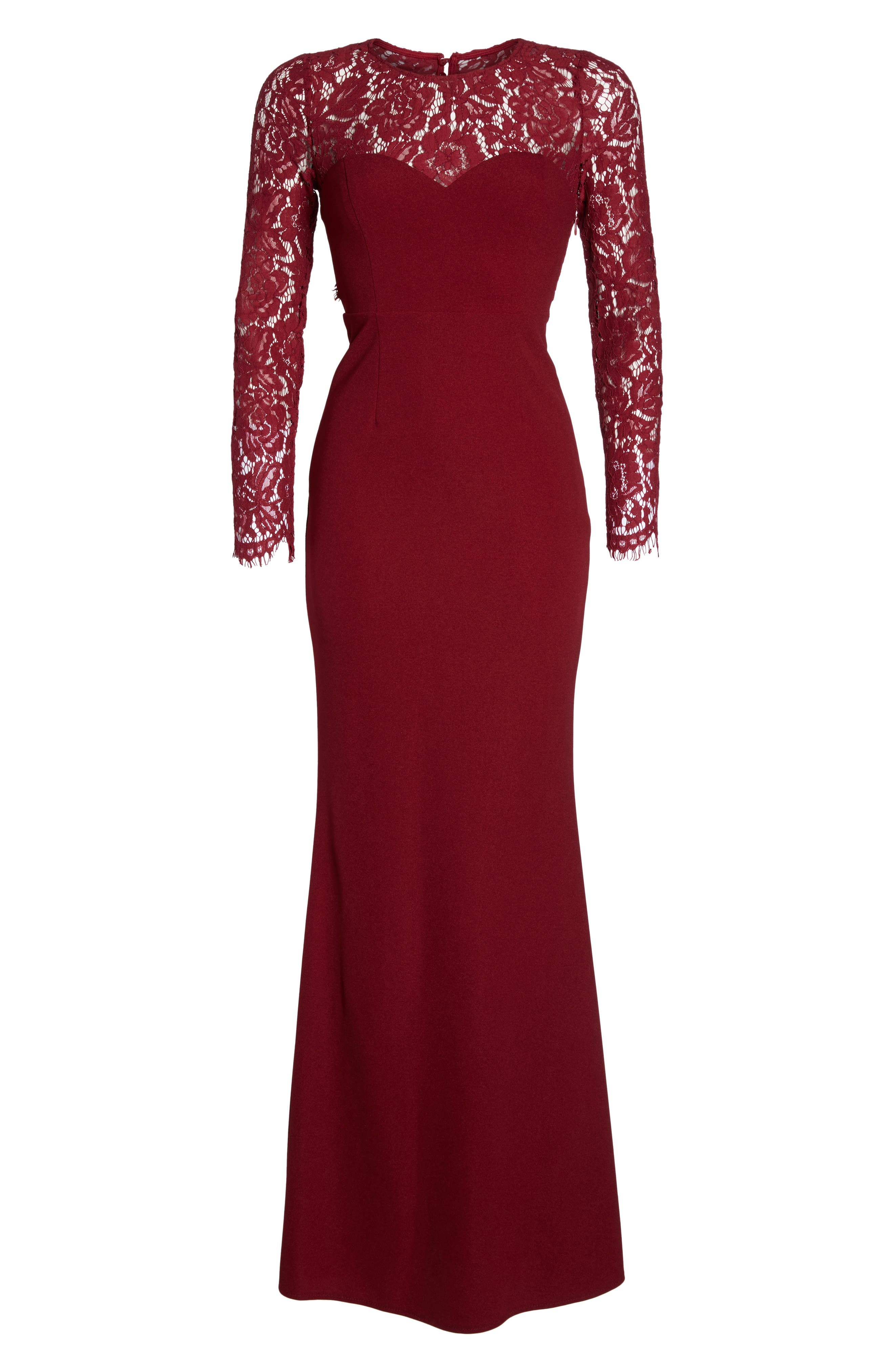 Whenever You Call Maxi Dress,                             Alternate thumbnail 6, color,                             Wine