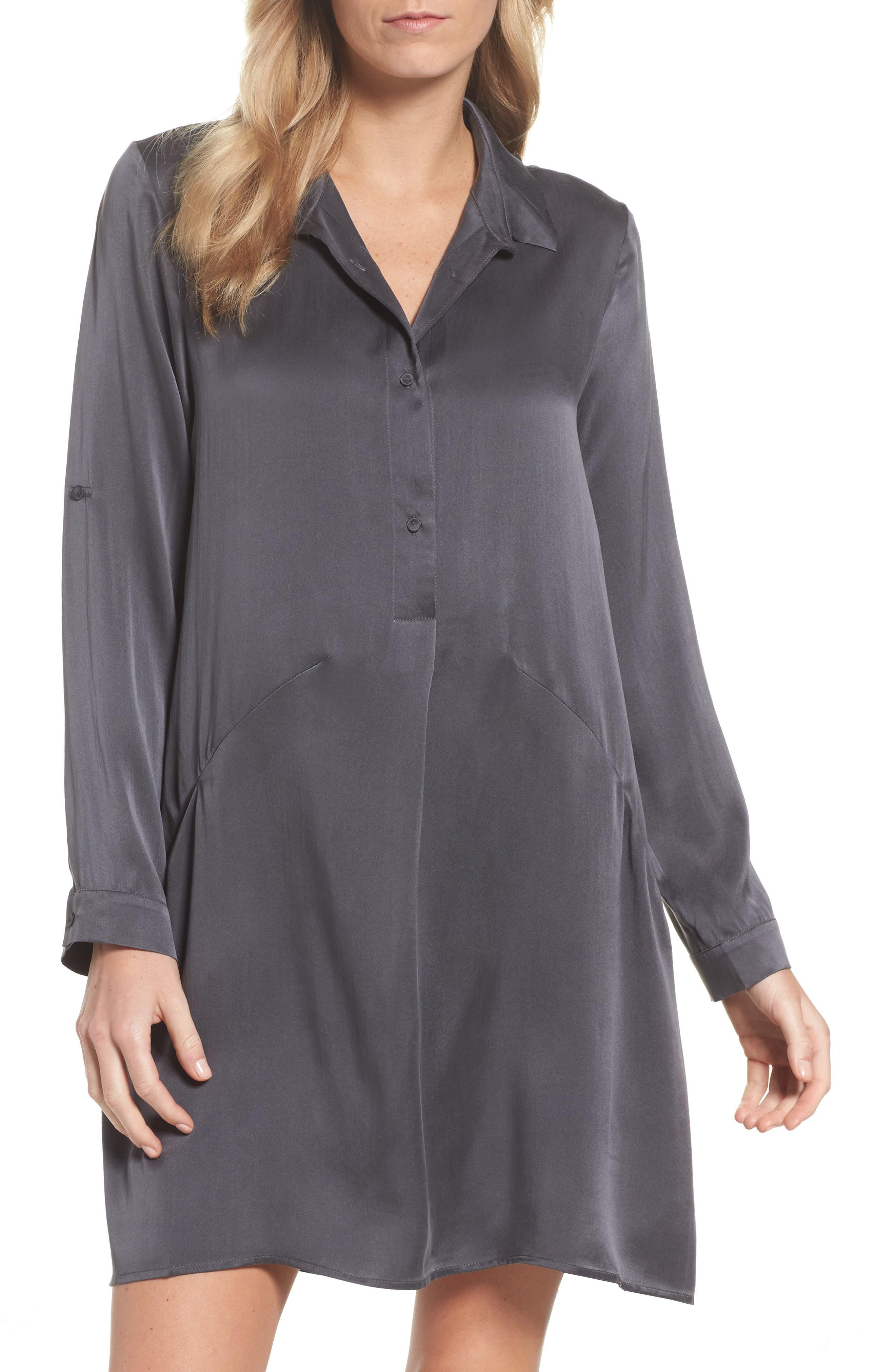 Main Image - Papinelle Silk Sleep Shirt