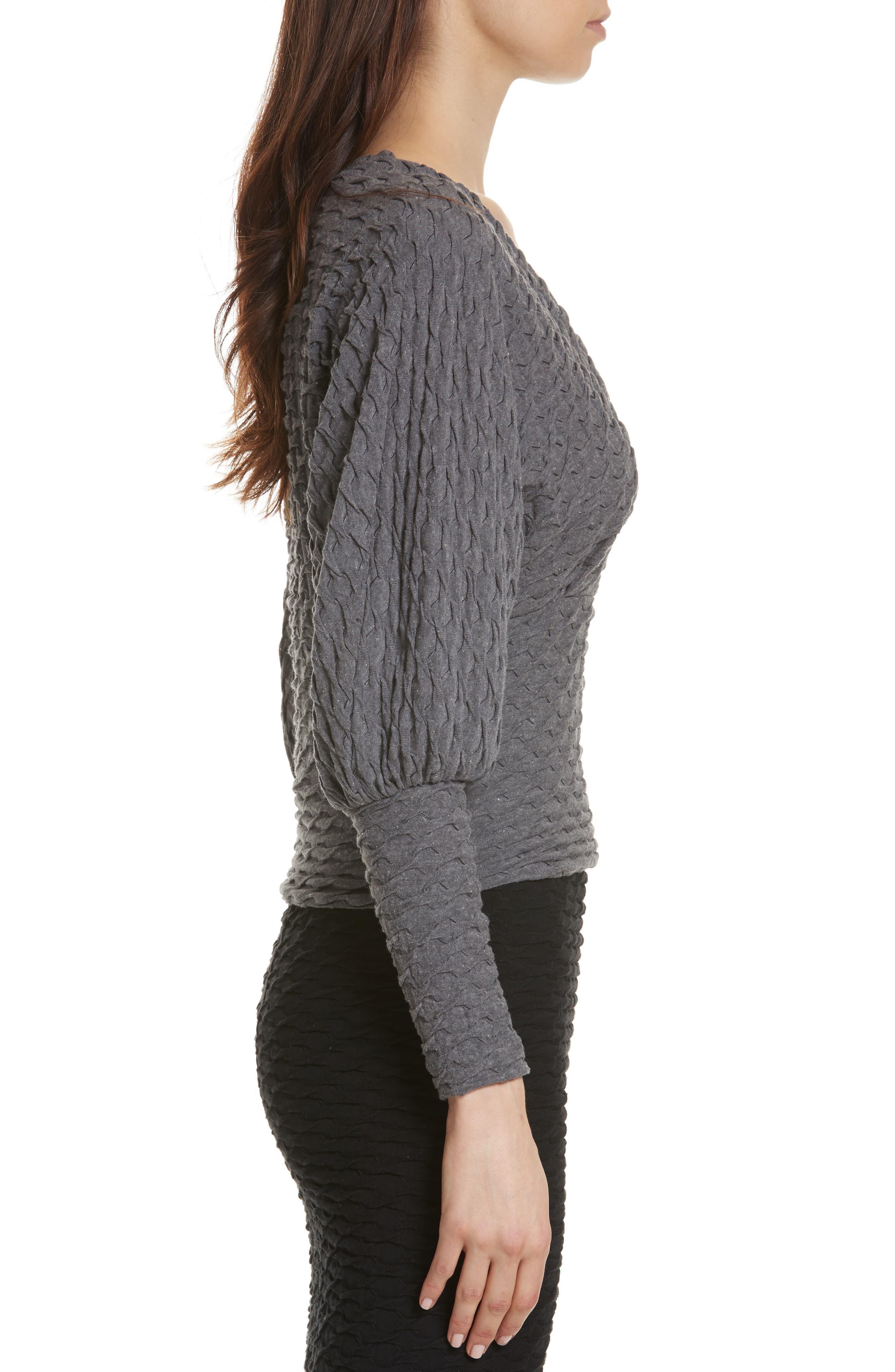 Surplice Sweater,                             Alternate thumbnail 3, color,                             Grey