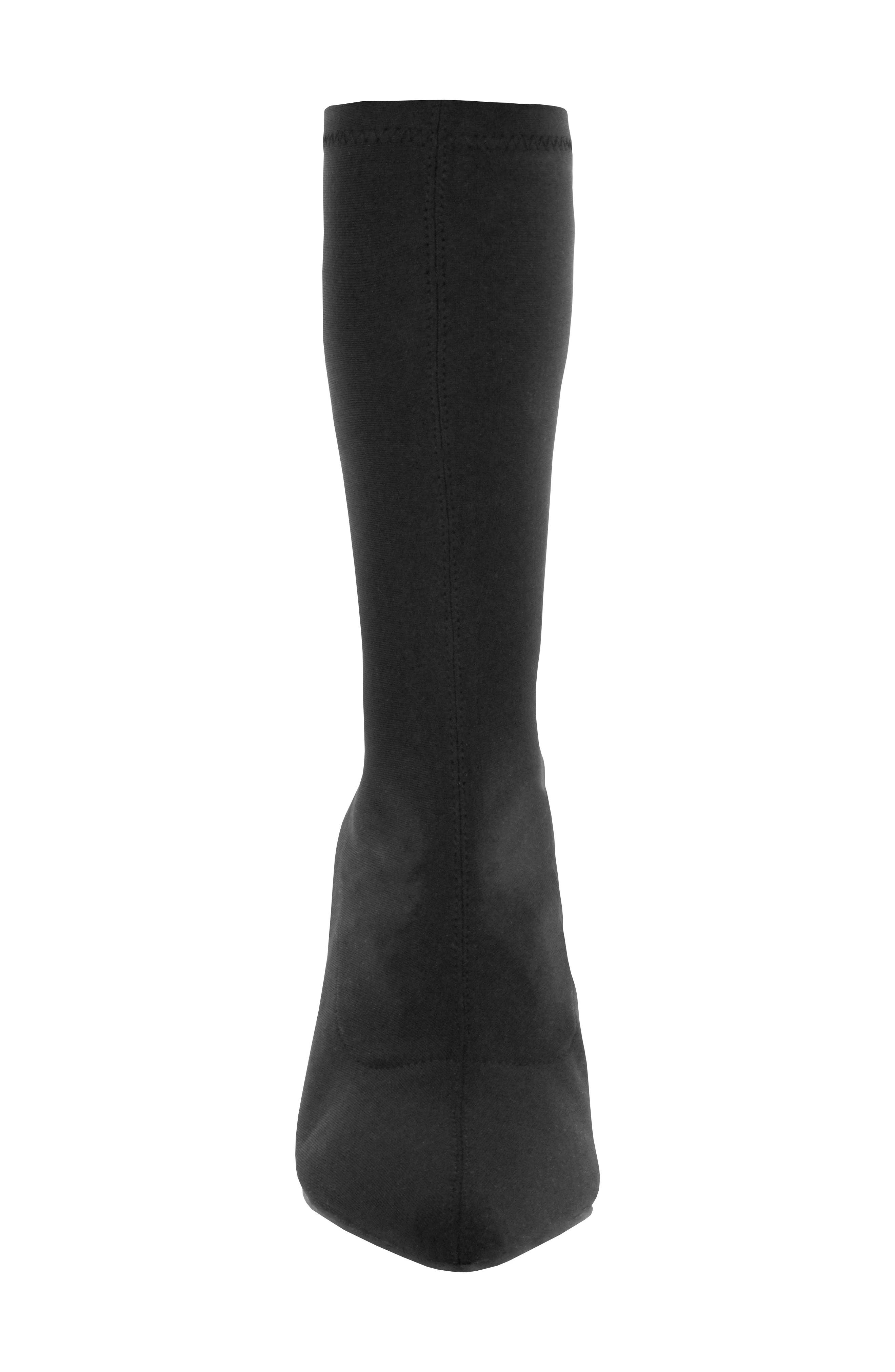 Camilla Sock Boot,                             Alternate thumbnail 4, color,                             Black
