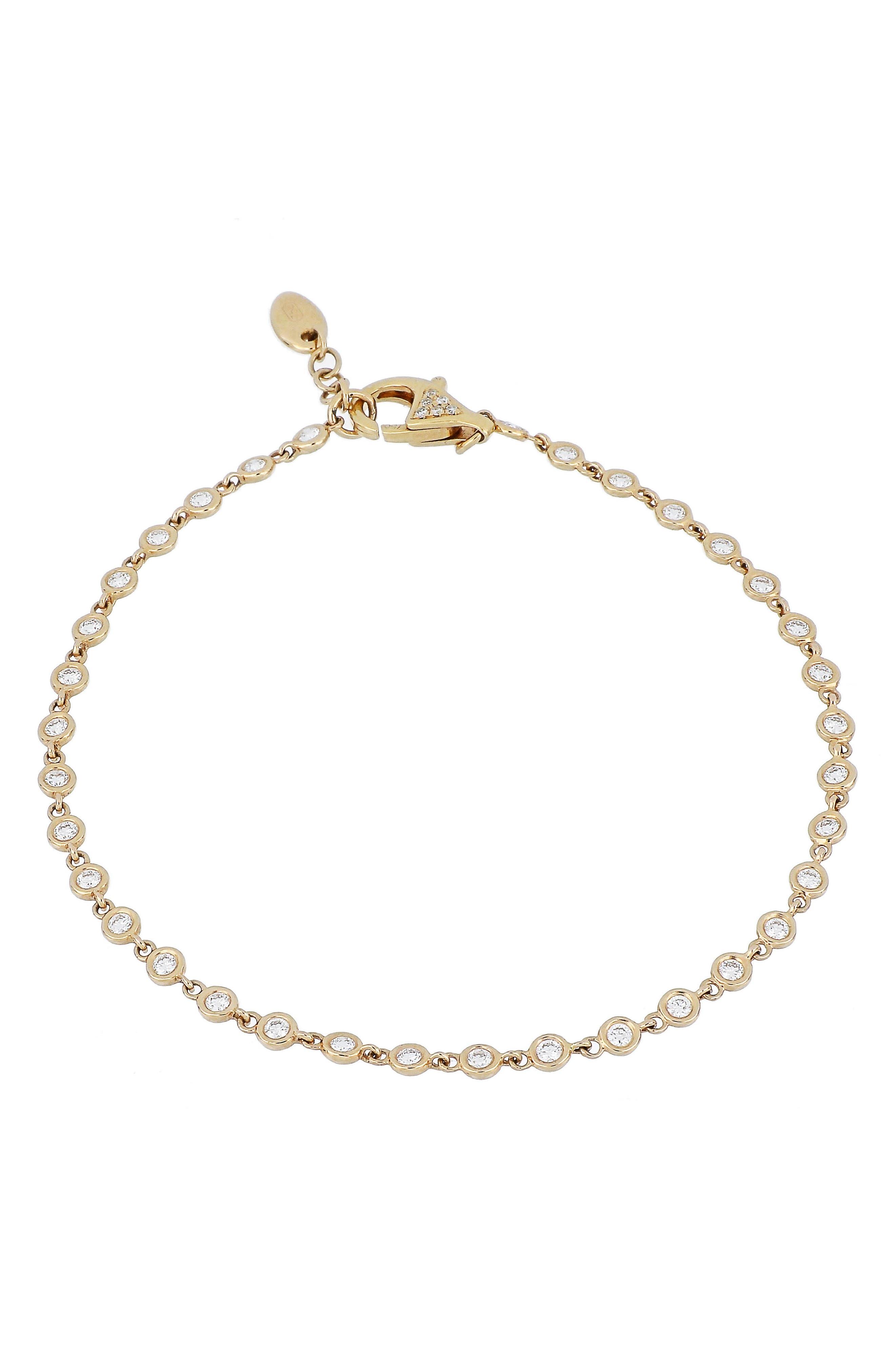 Alternate Image 1 Selected - Bony Levy Diamond Line Bracelet (Nordstrom Exclusive)
