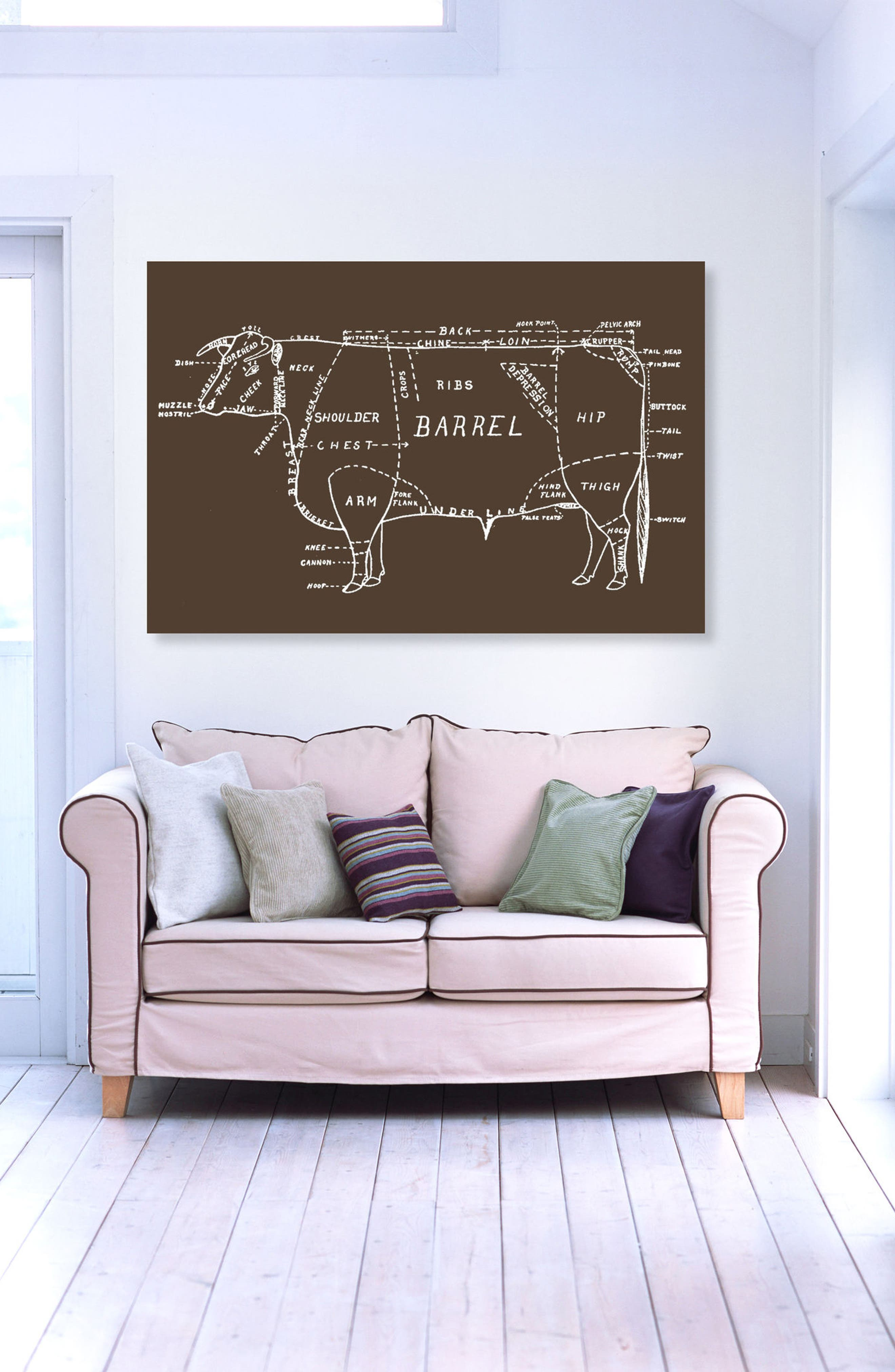 Beef Canvas Wall Art,                             Alternate thumbnail 2, color,                             Brown