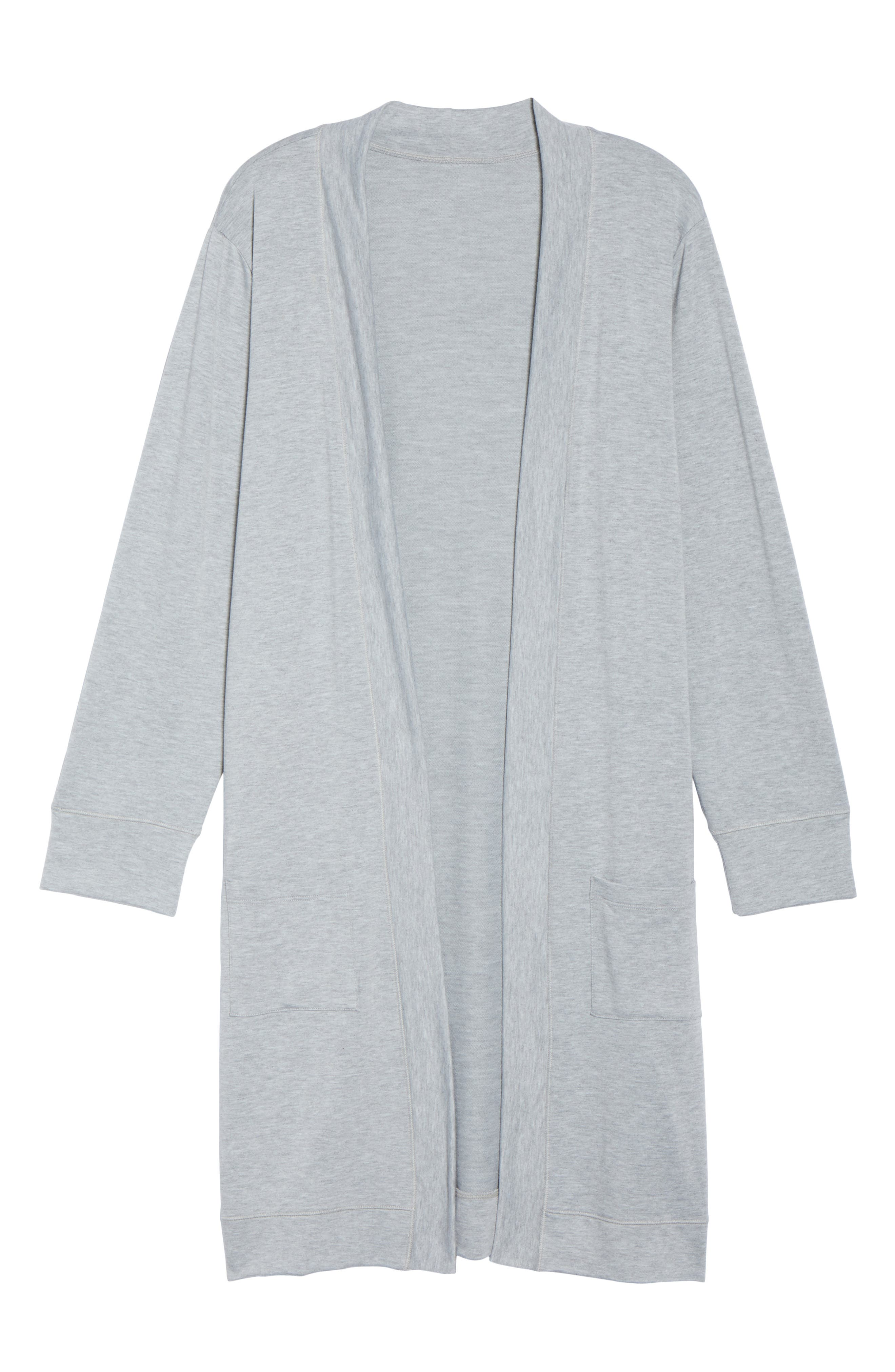 Alternate Image 6  - Caslon® Long French Terry Cardigan (Plus Size)