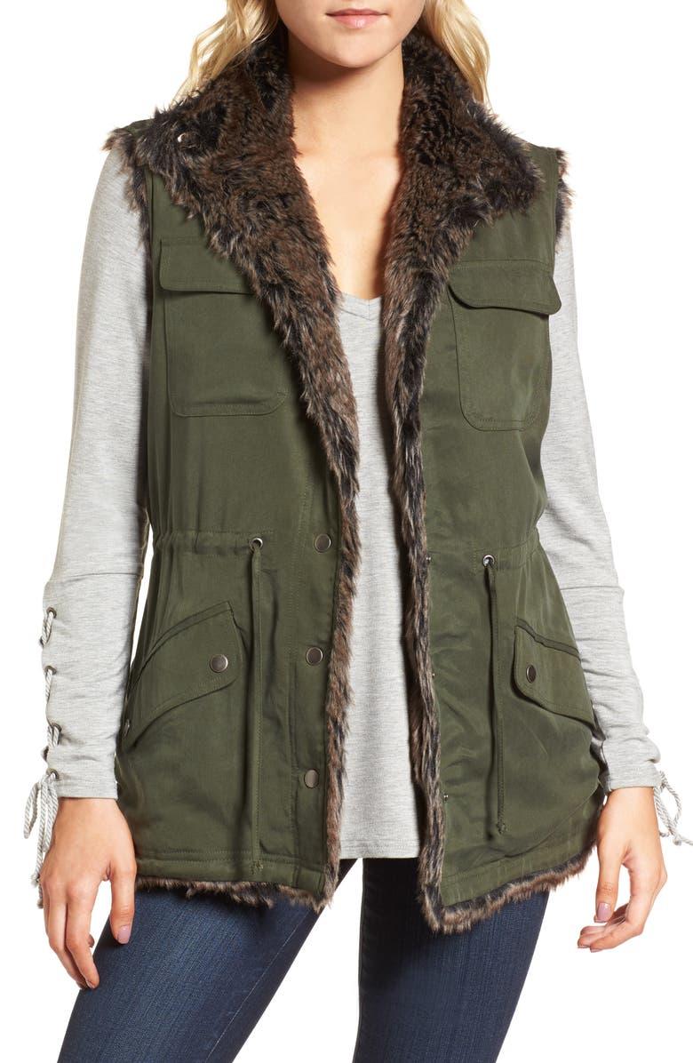 Ashling Faux Fur Lined Utility Vest