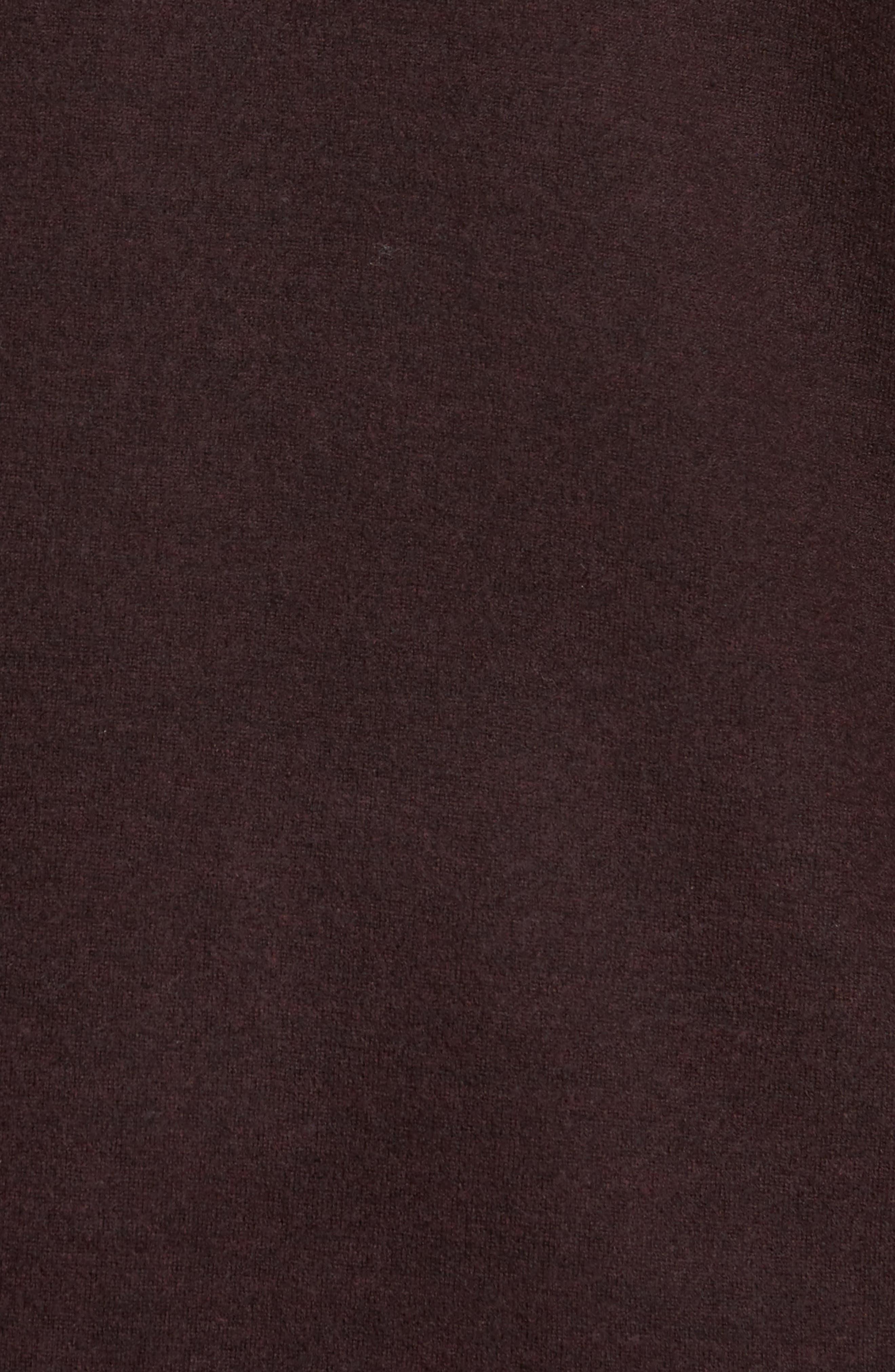 Notch Collar Merino Wool Topper,                             Alternate thumbnail 5, color,                             Clove