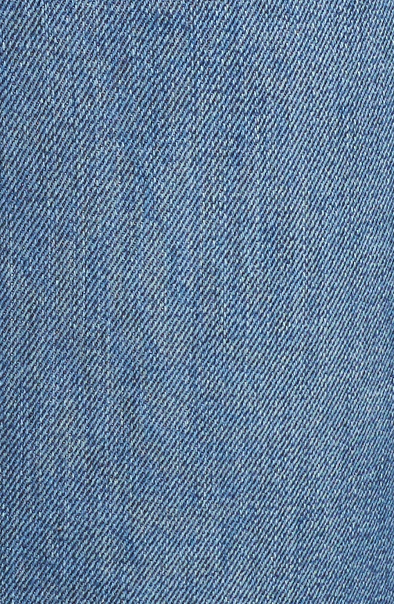 Bombshell Raw Hem Stretch Skinny Jeans,                             Alternate thumbnail 6, color,                             Dawn