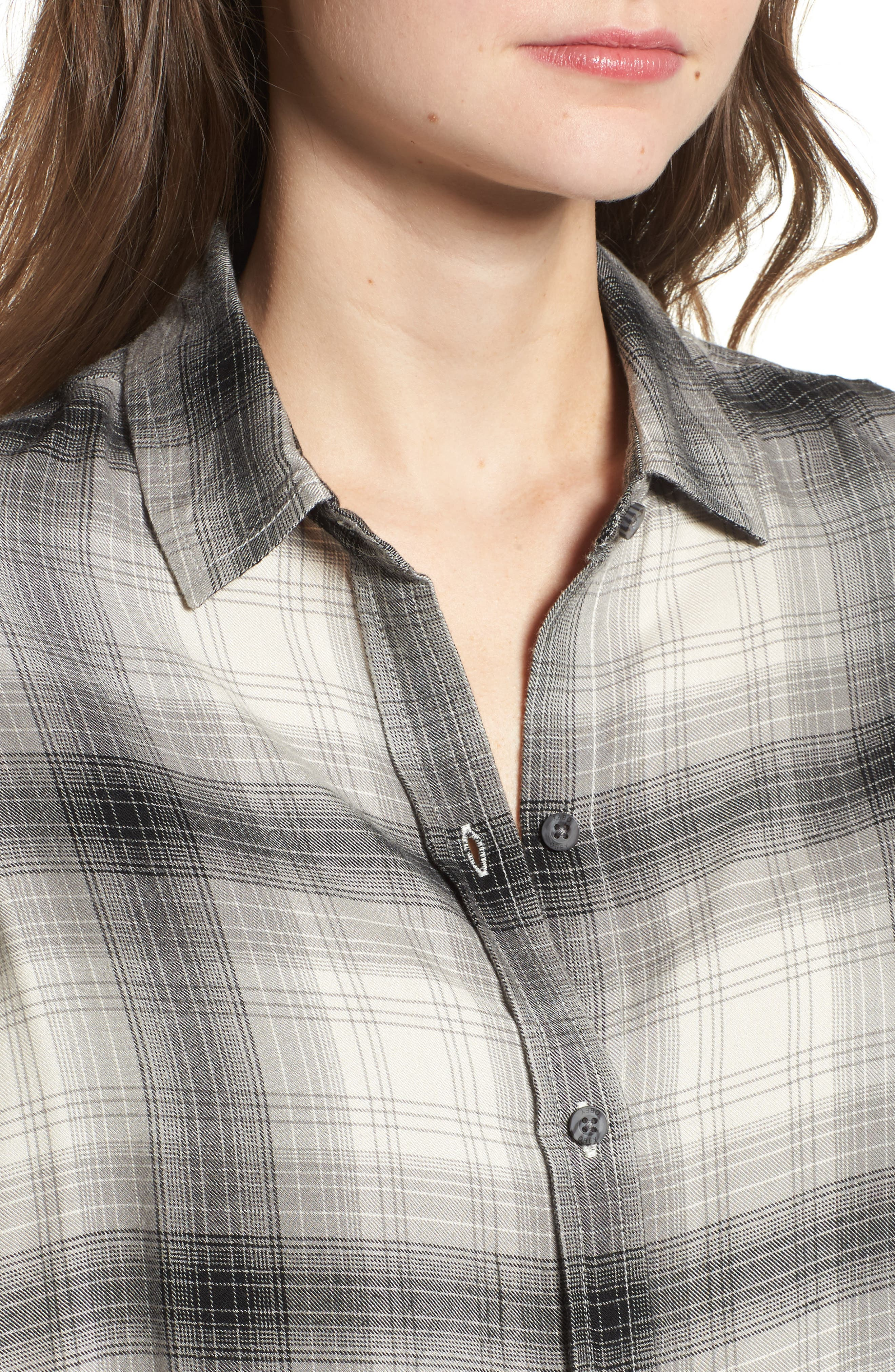 Alternate Image 4  - Obey Sky Plaid Shirt