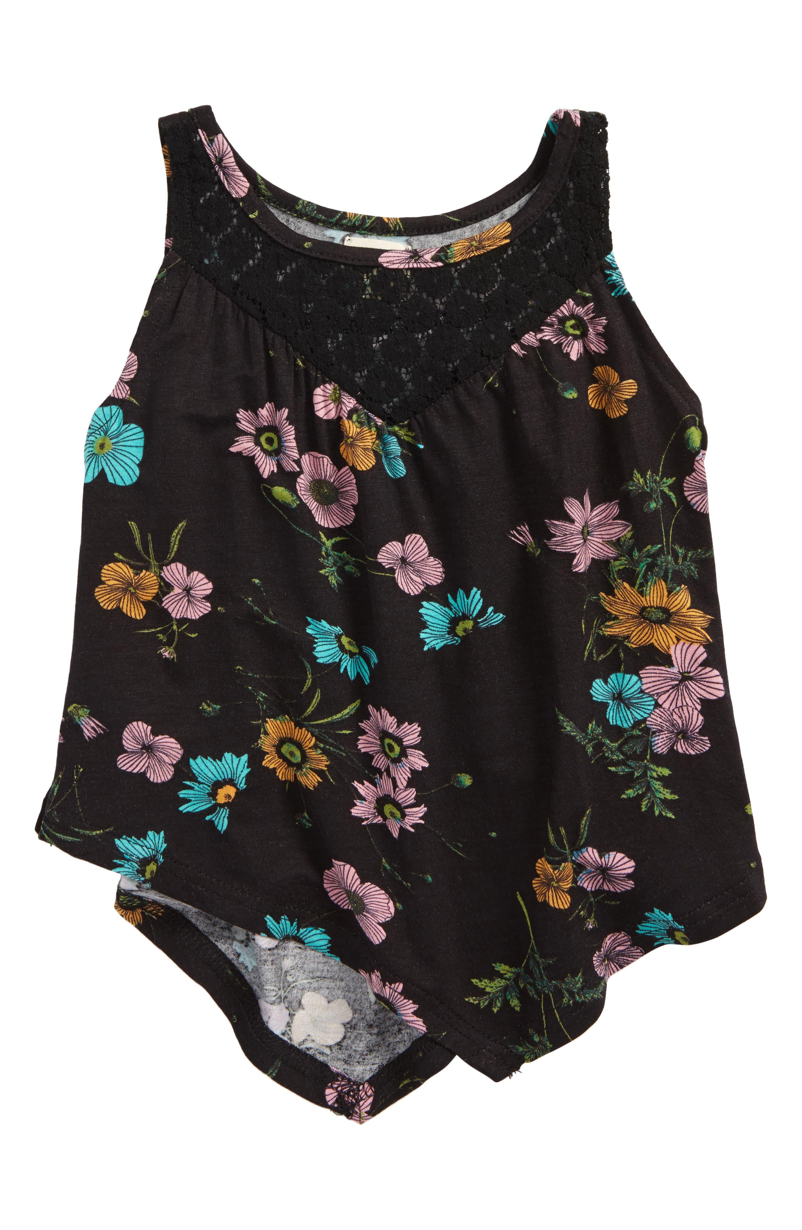 O'Neill Charlize Handkerchief Hem Tank (Toddler Girls & Little Girls)