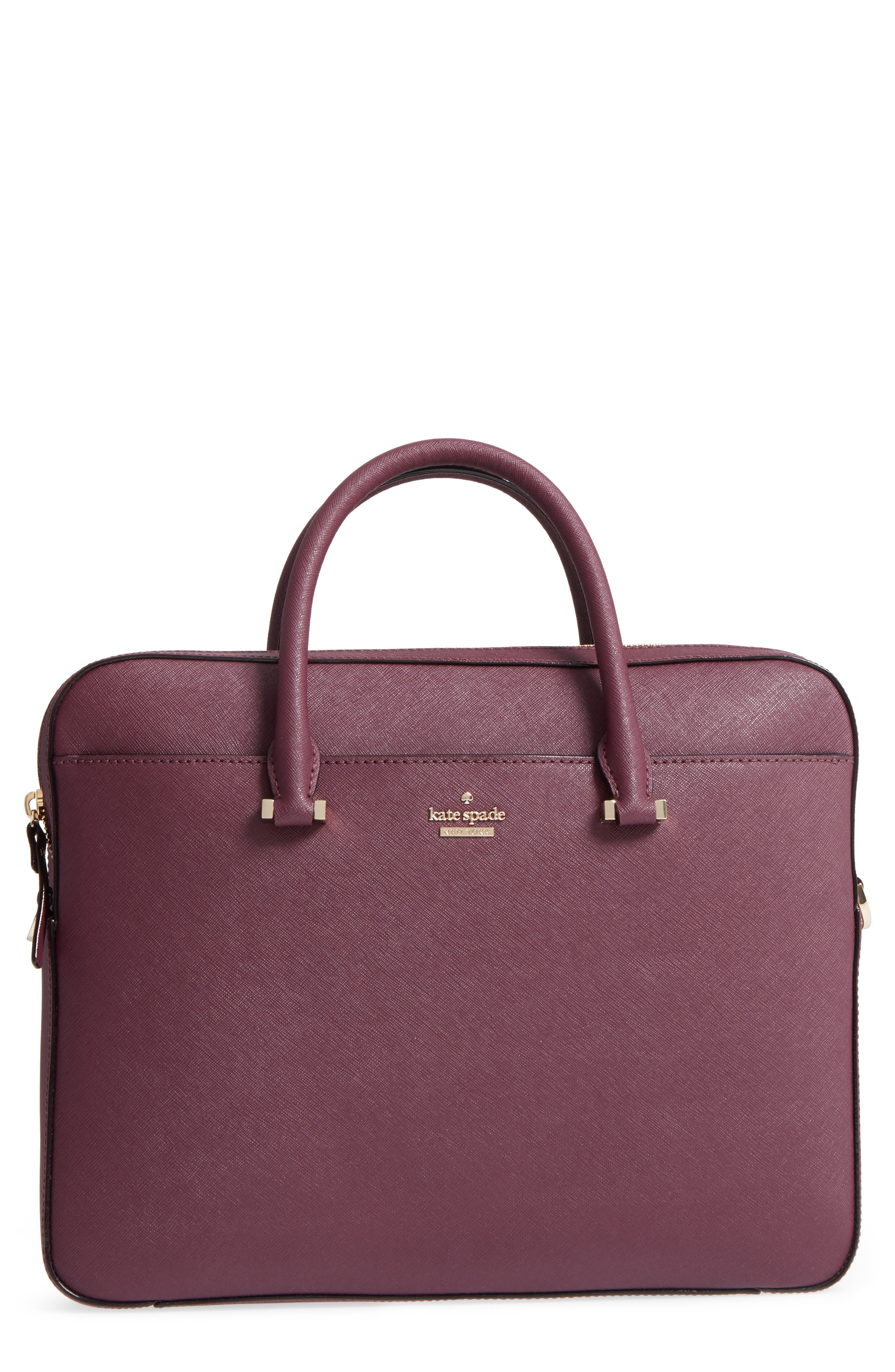 Alternate Image 1 Selected - kate spade new york saffiano leather laptop bag