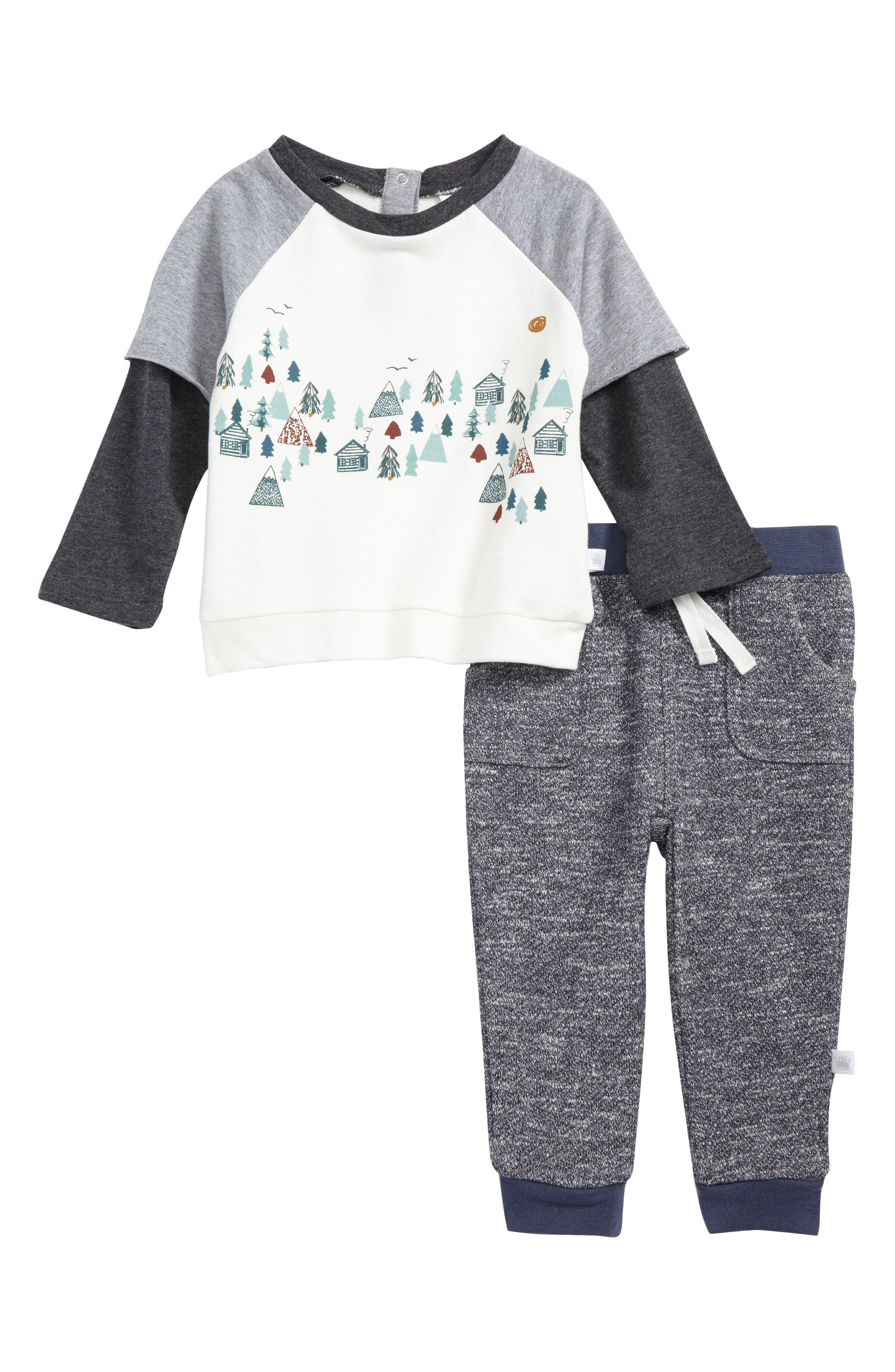Rosie Pope Woodland T-Shirt & Sweatpants Set (Baby Boys)