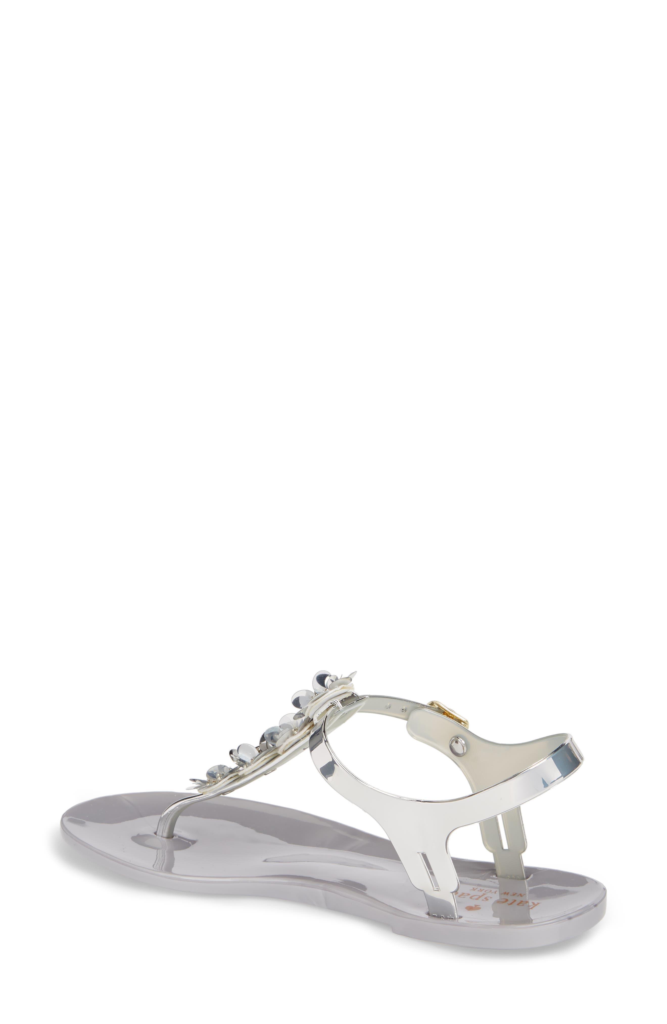farrah thong sandal,                             Alternate thumbnail 2, color,                             Silver