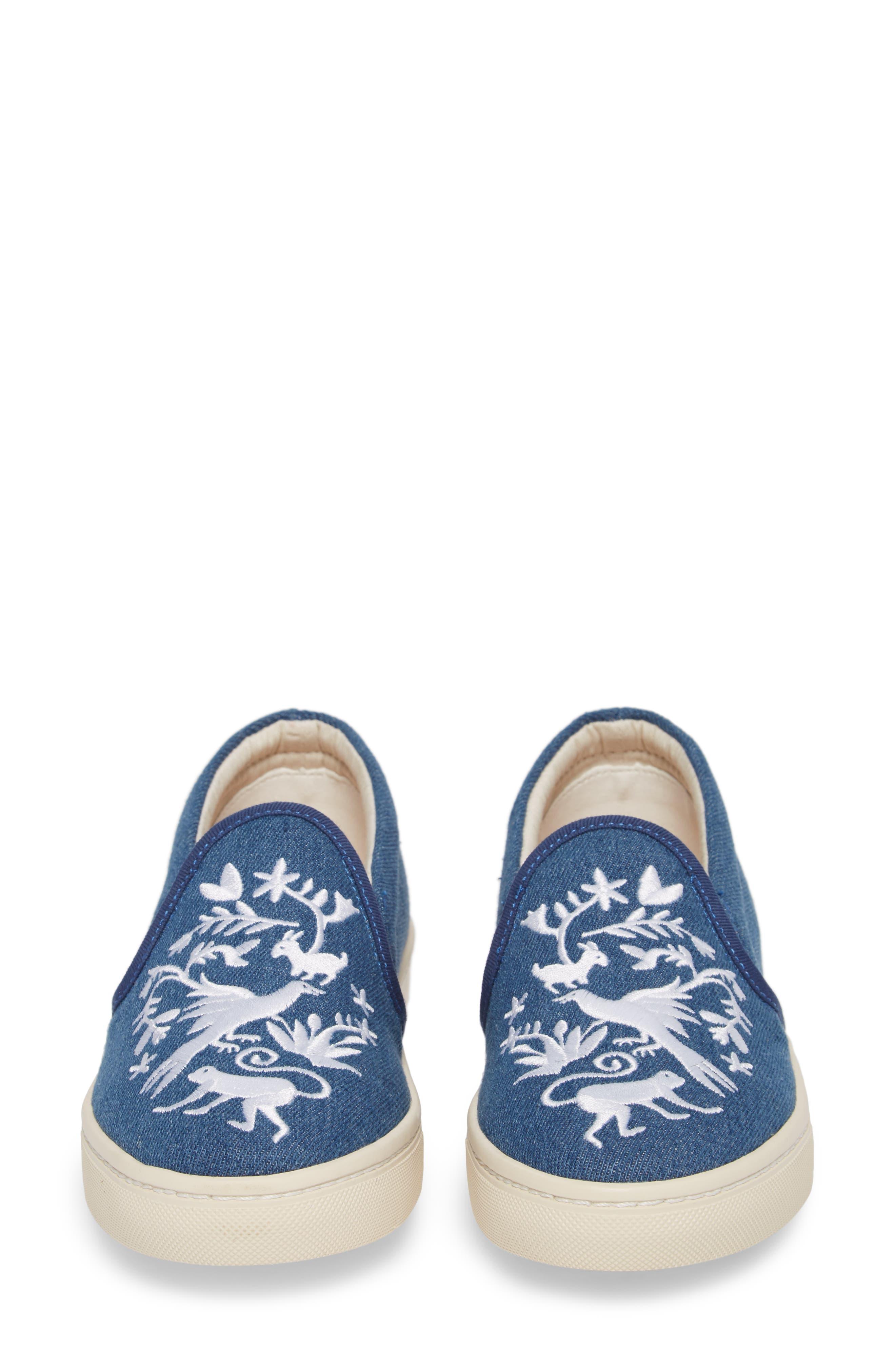 Otomi Slip-On Sneaker,                             Alternate thumbnail 5, color,                             Denim Fabric