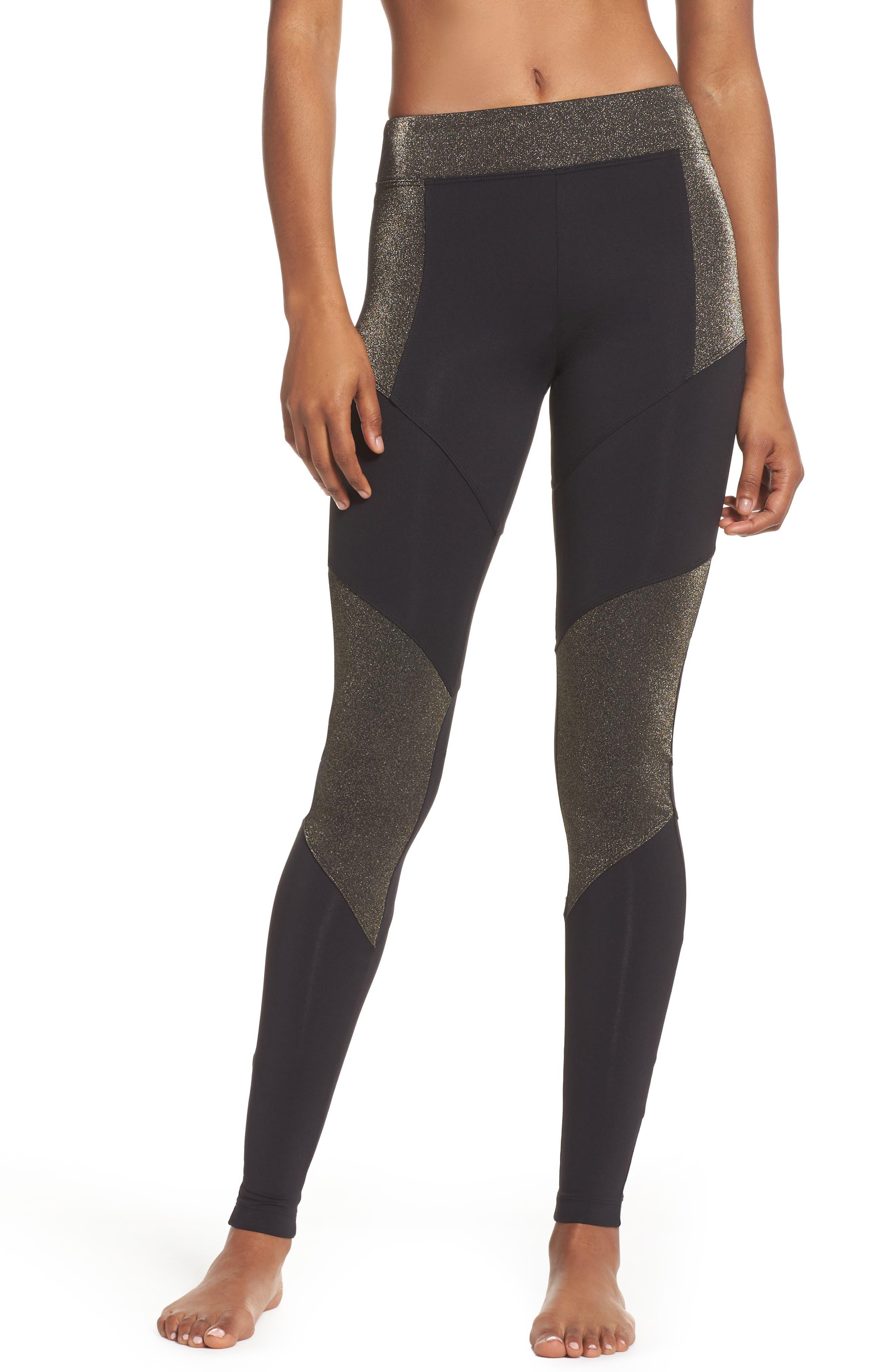 Versus Leggings,                         Main,                         color, Black/ Gleam