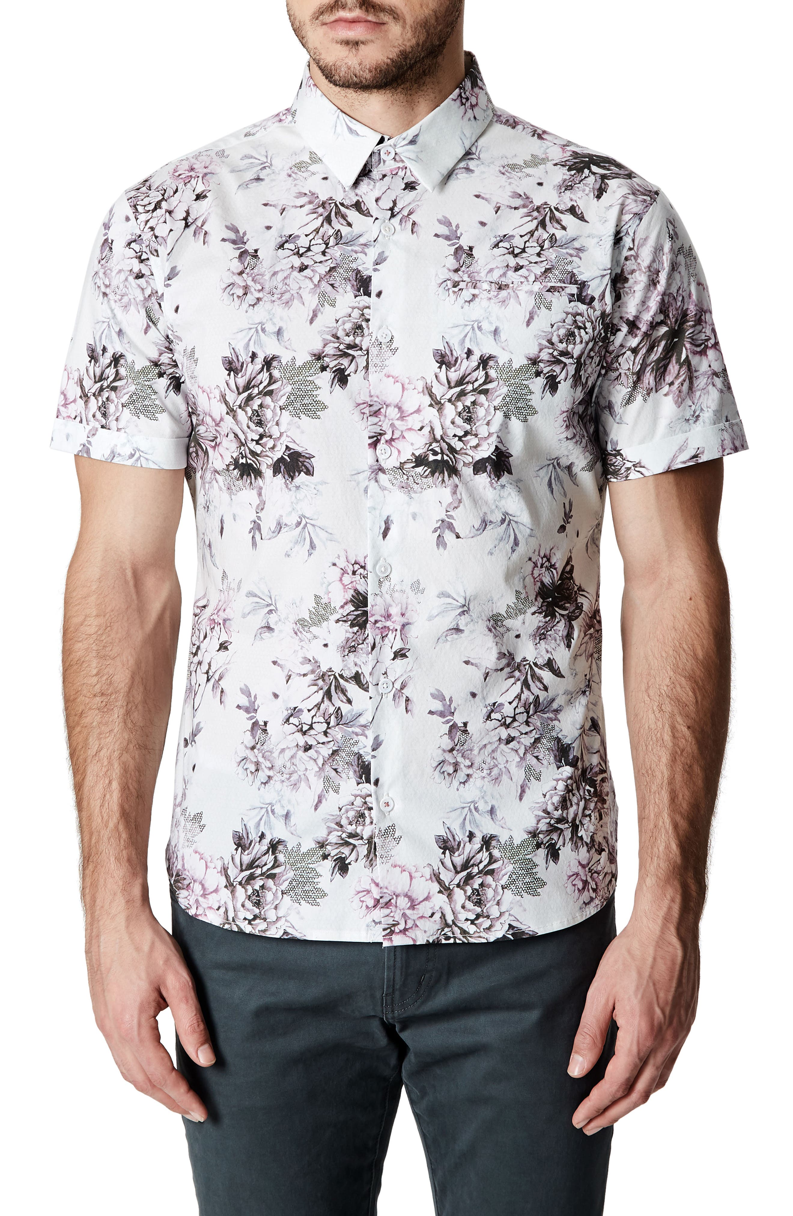 7 Diamonds Aura Floral Sport Shirt