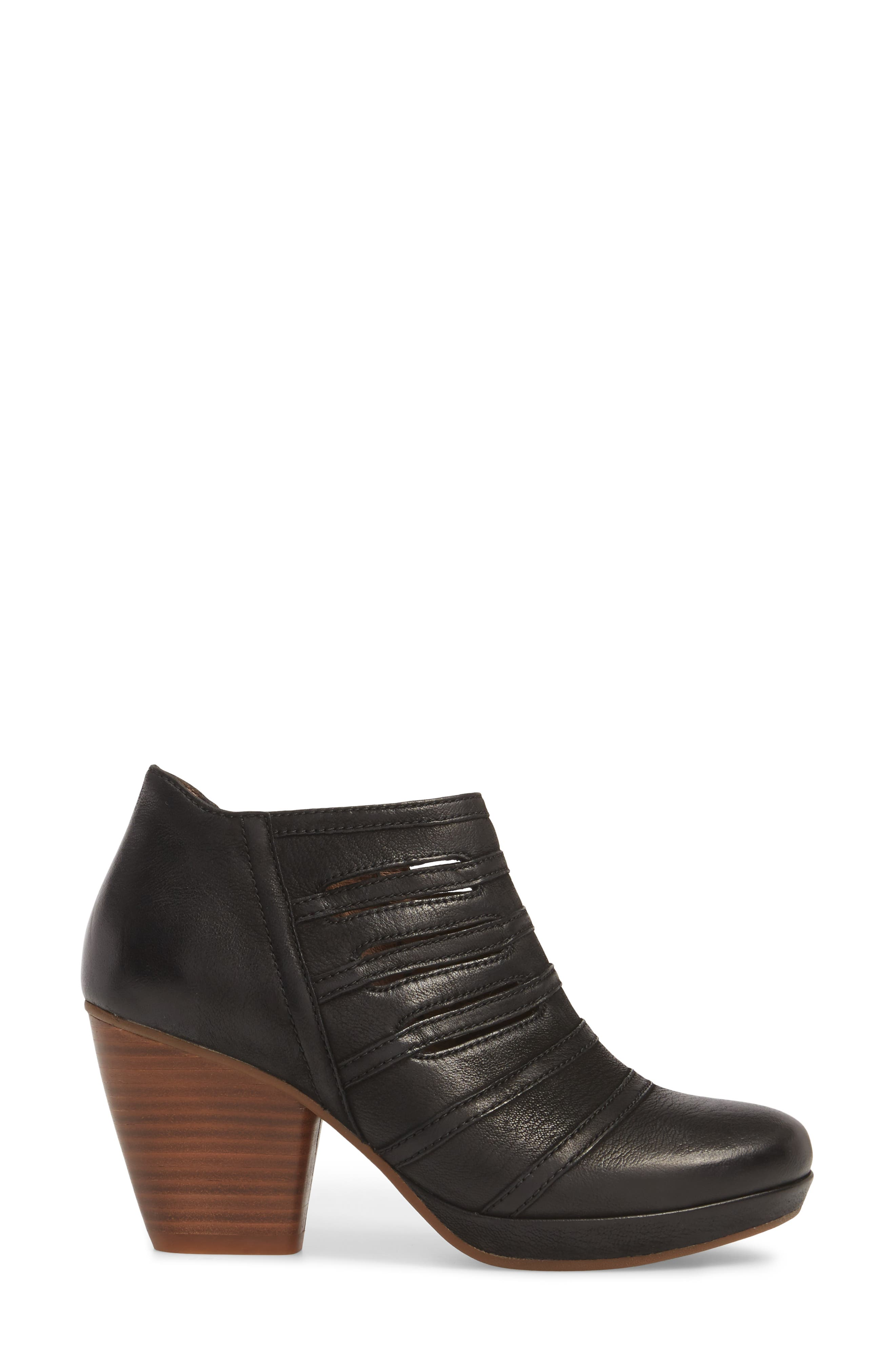 Meadow Bootie,                             Alternate thumbnail 3, color,                             Meadow Black Burnished Leather