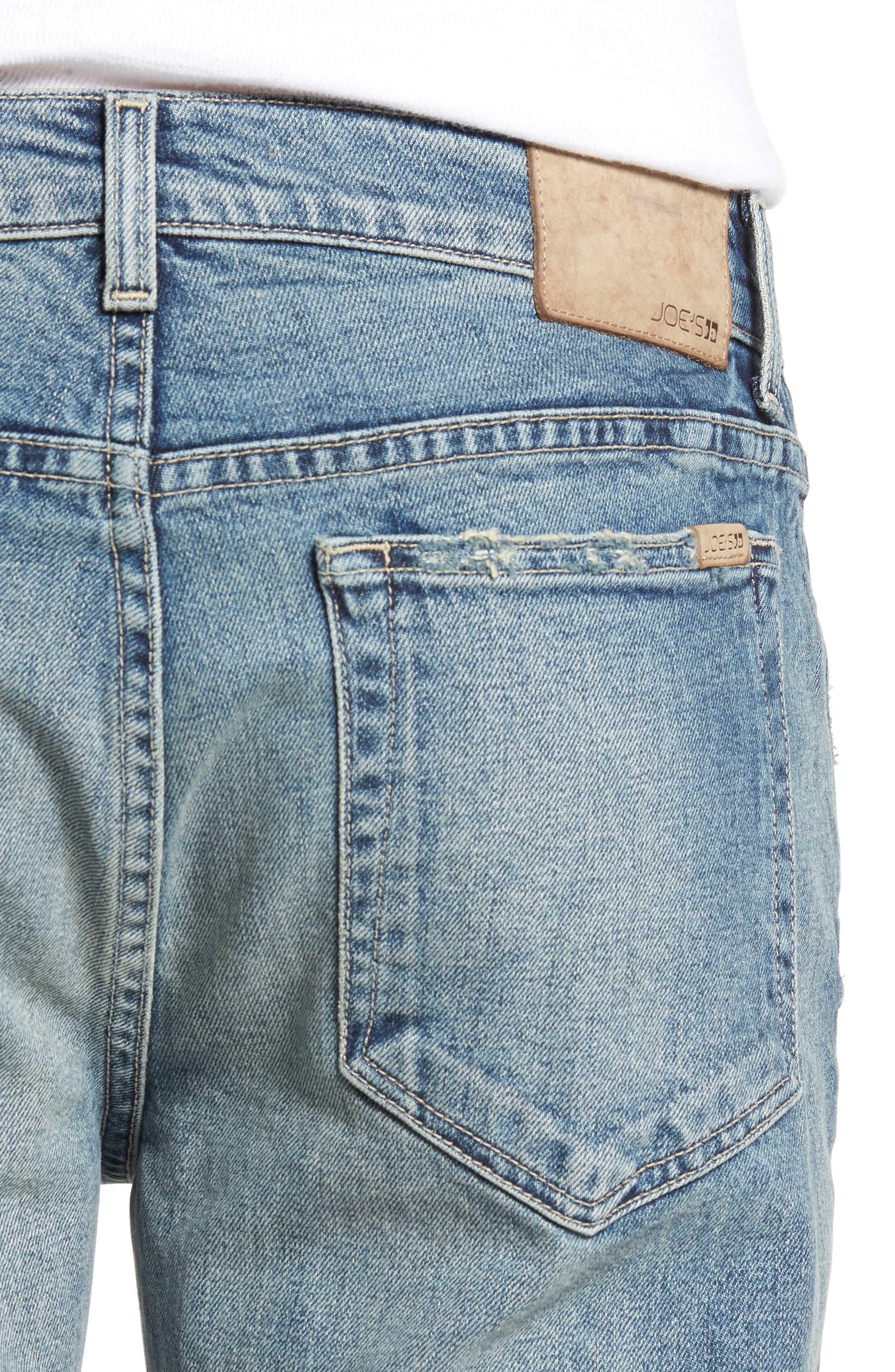 Brixton Slim Straight Fit Jeans,                             Alternate thumbnail 4, color,                             Harken
