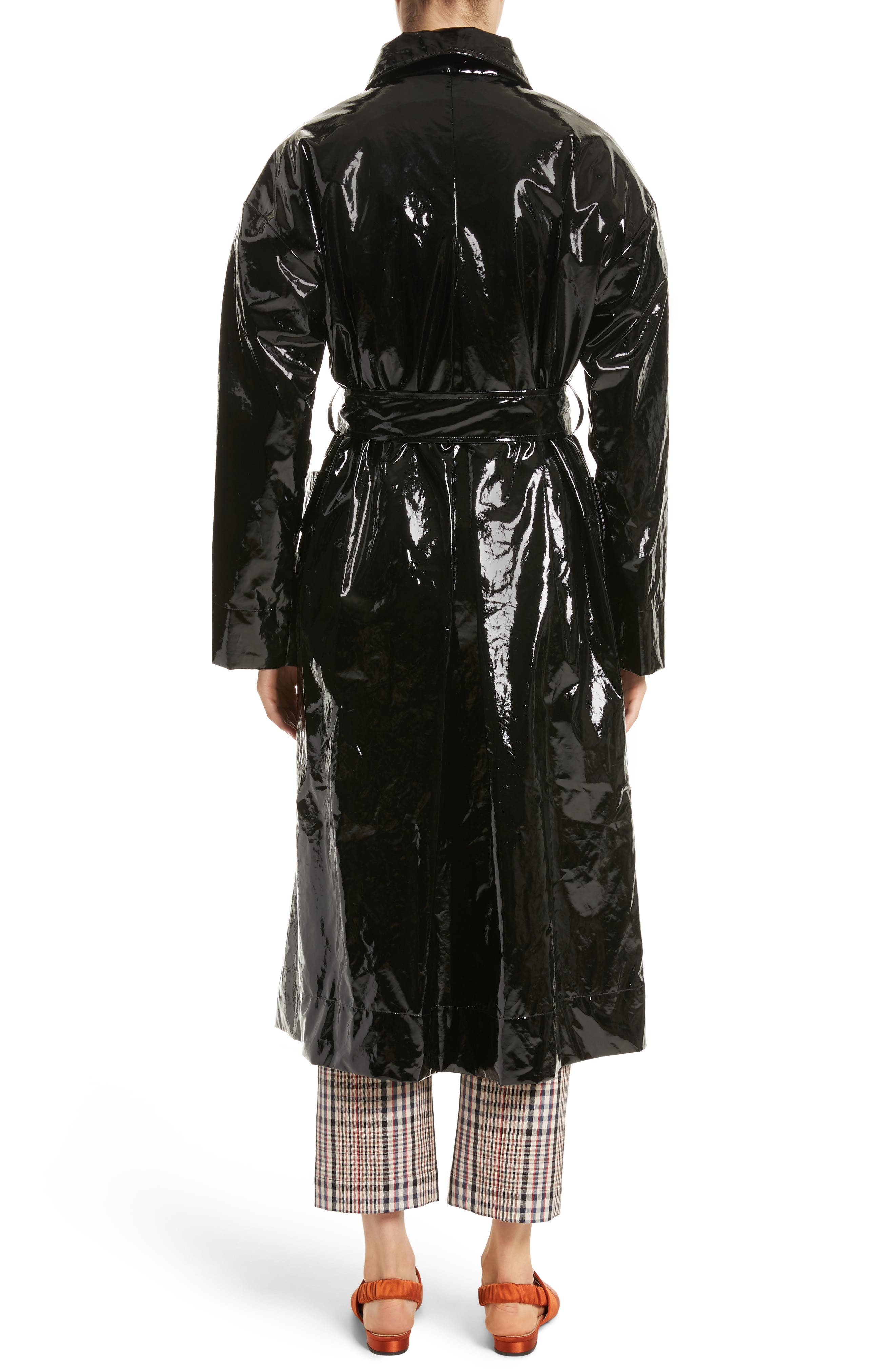 Classic Relaxed Trench Coat,                             Alternate thumbnail 2, color,                             Black