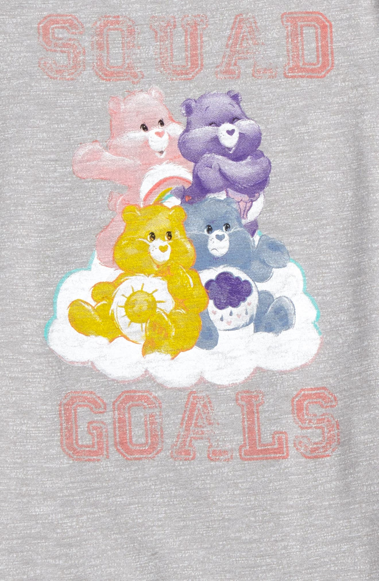 Care Bears<sup>™</sup> by Fine Threads Squad Goals Dress,                             Alternate thumbnail 2, color,                             Heather Gray