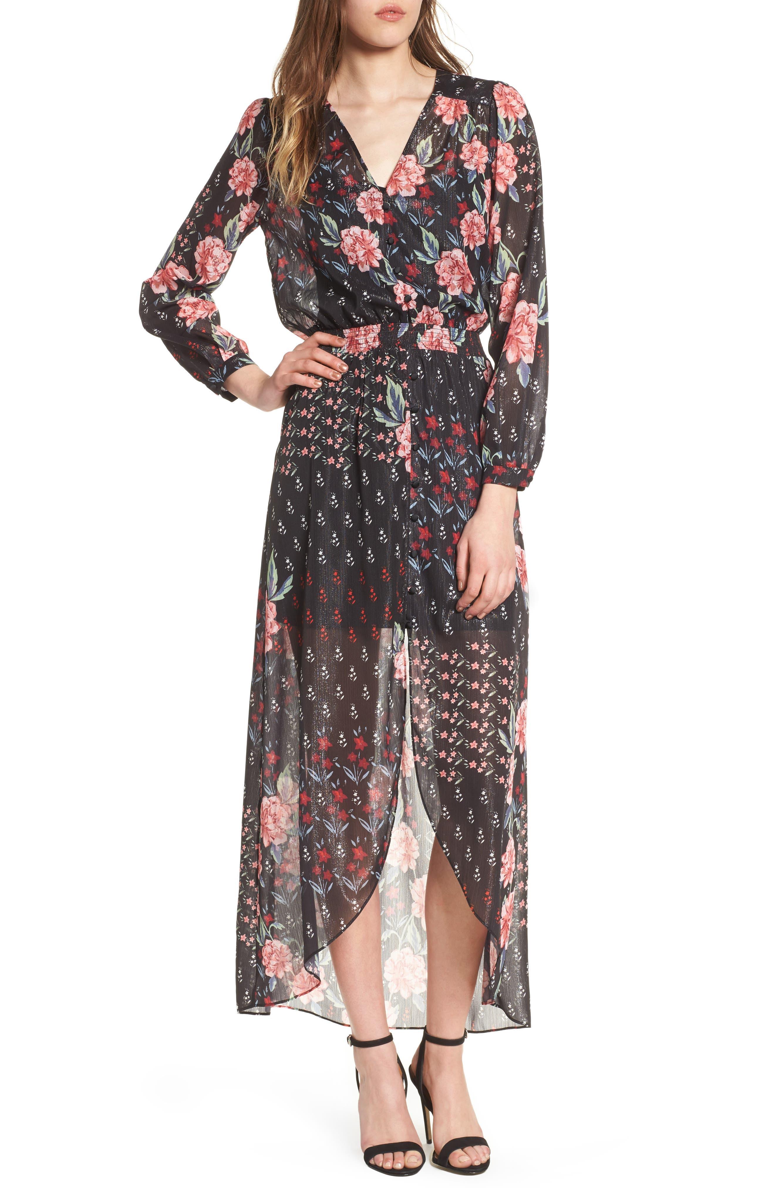 Abby Maxi Dress,                         Main,                         color, Rose Garden