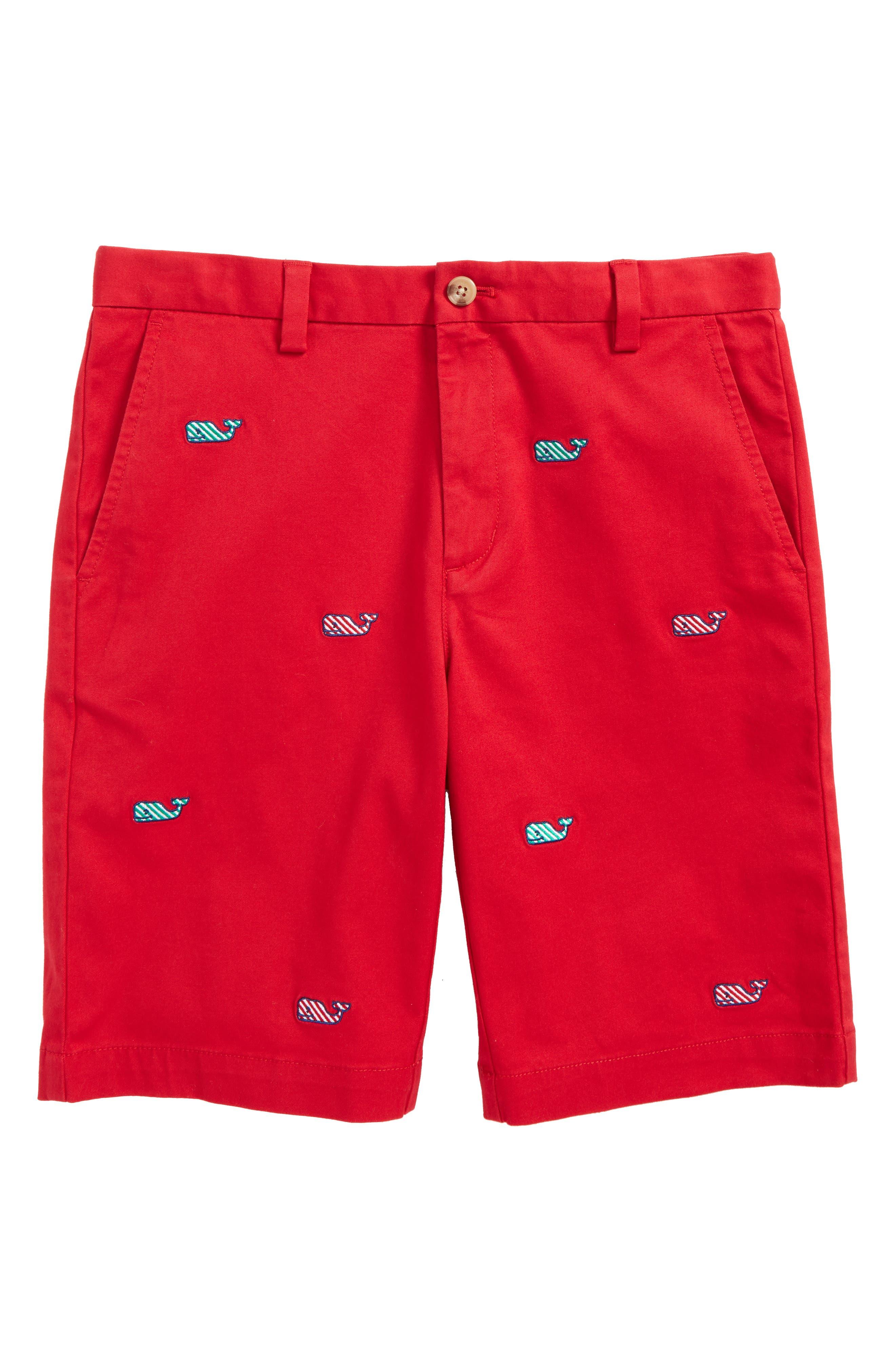 Main Image - vineyard vines Candy Cane Whale Breaker Shorts (Big Boys)