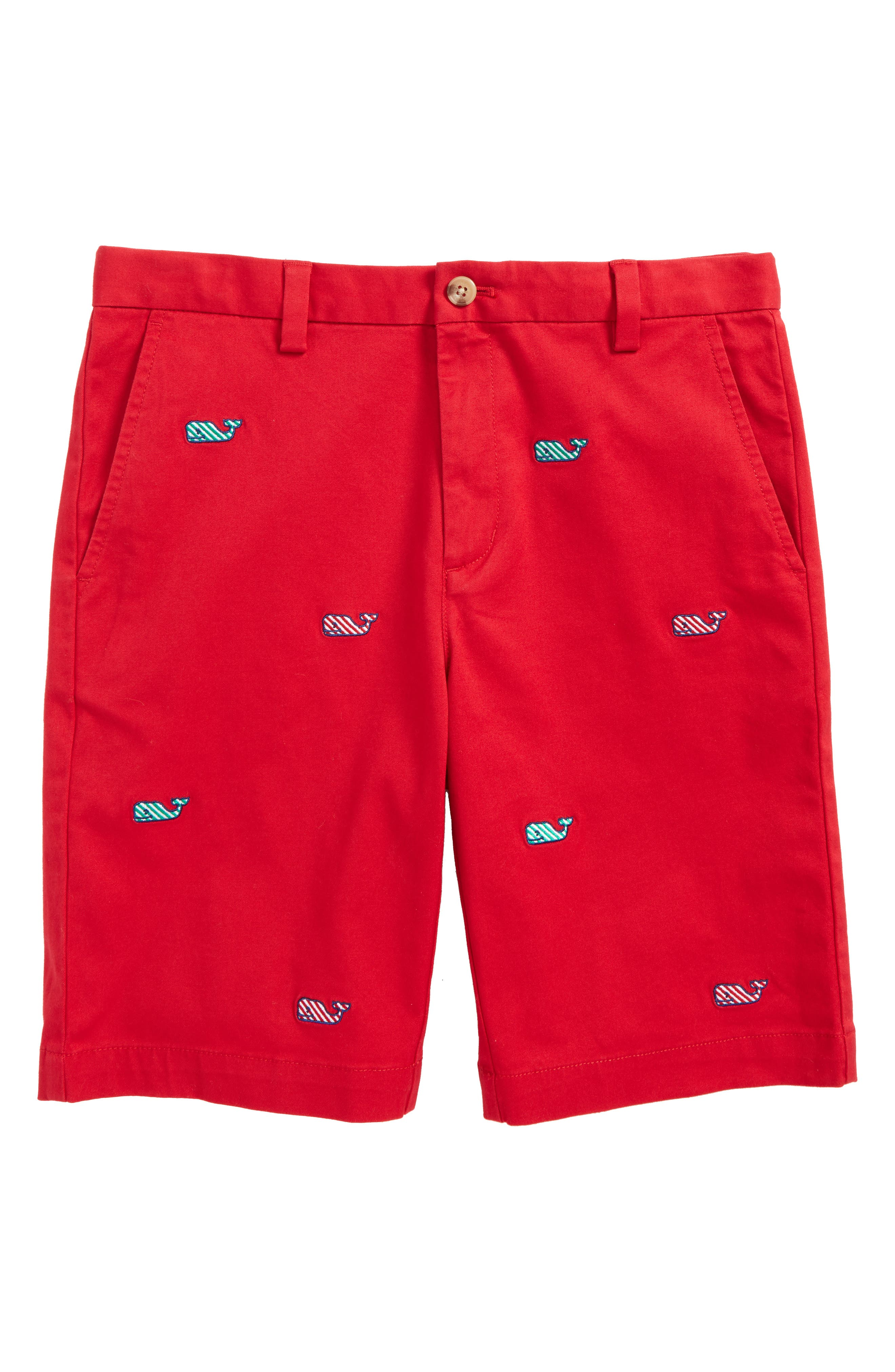 Candy Cane Whale Breaker Shorts,                         Main,                         color, Lifeguard Red