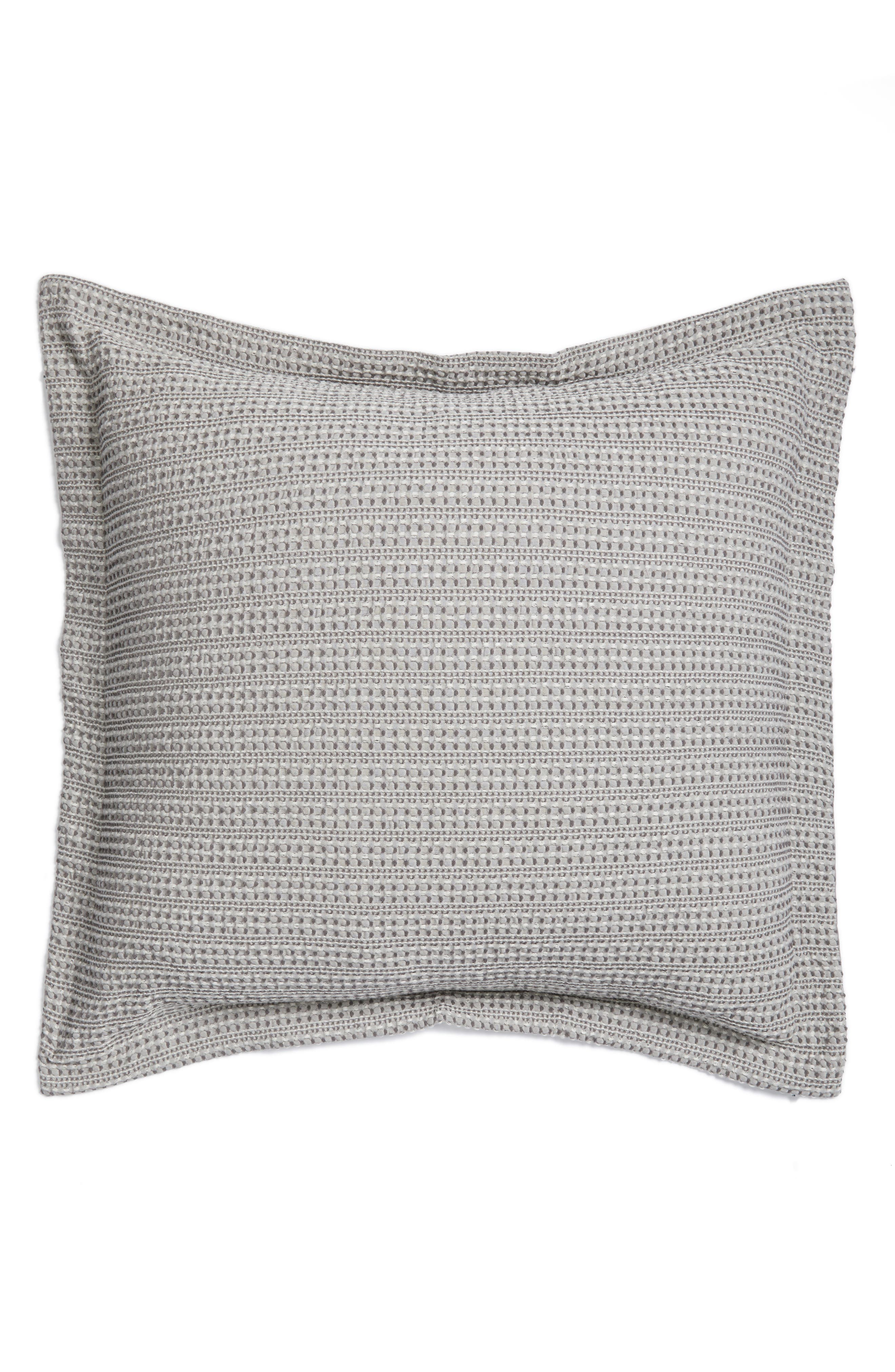 Stitched Accent Pillow,                         Main,                         color, Grey