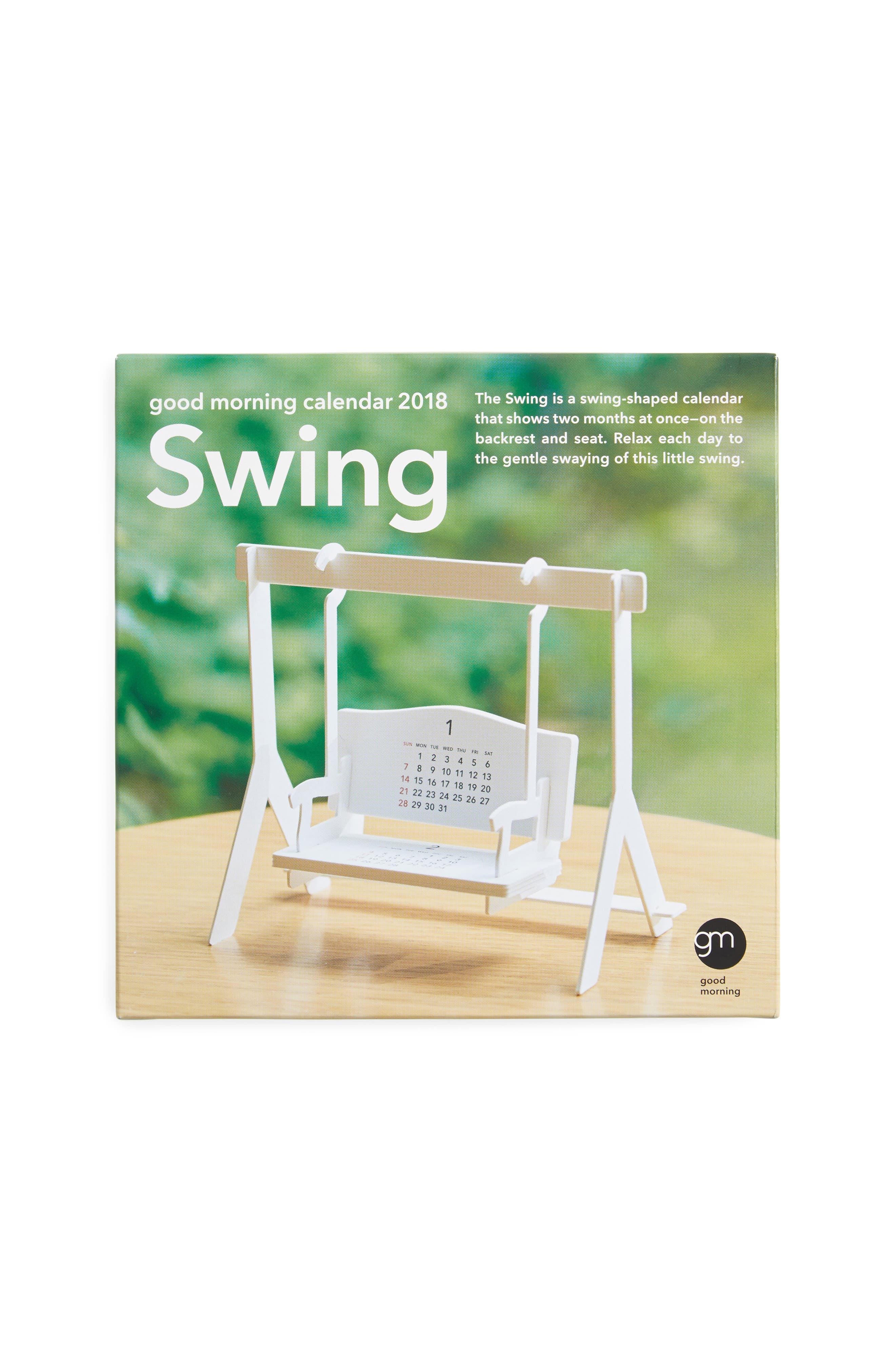 MoMA Design Store 2018 3D Swing Calendar