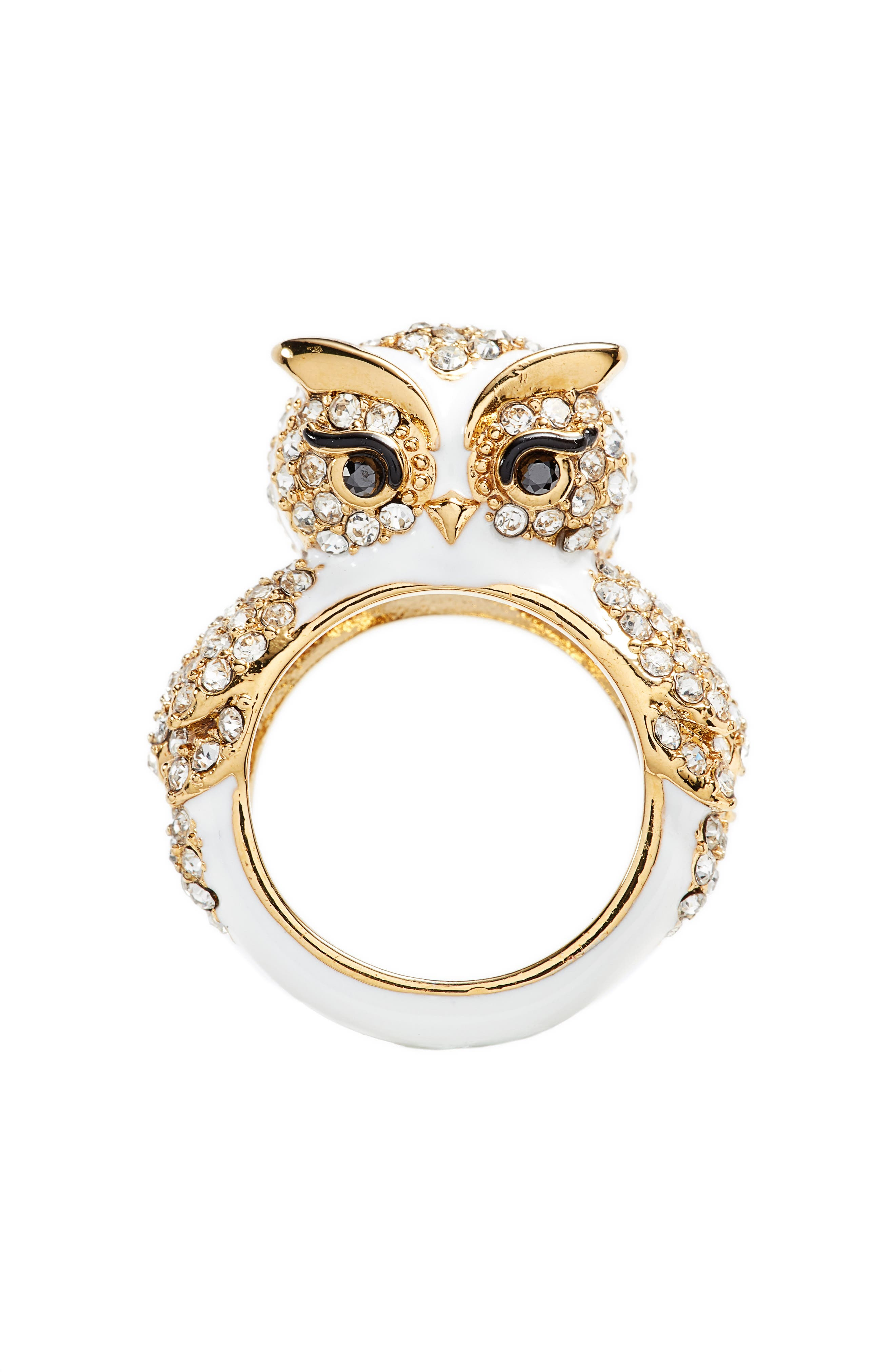 star bright owl ring,                             Alternate thumbnail 3, color,                             White Multi