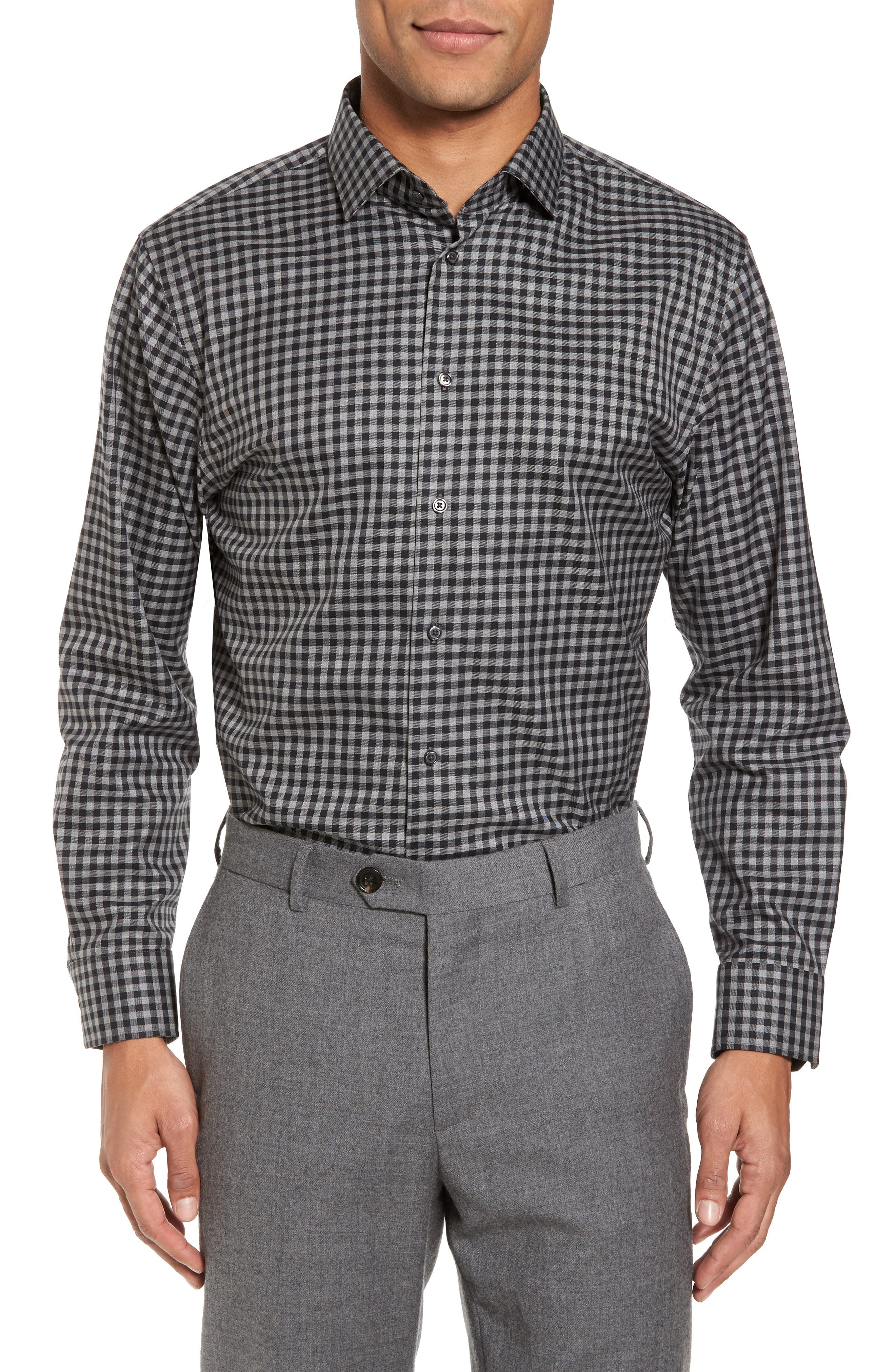 Alternate Image 1 Selected - Calibrate Trim Fit Check Dress Shirt