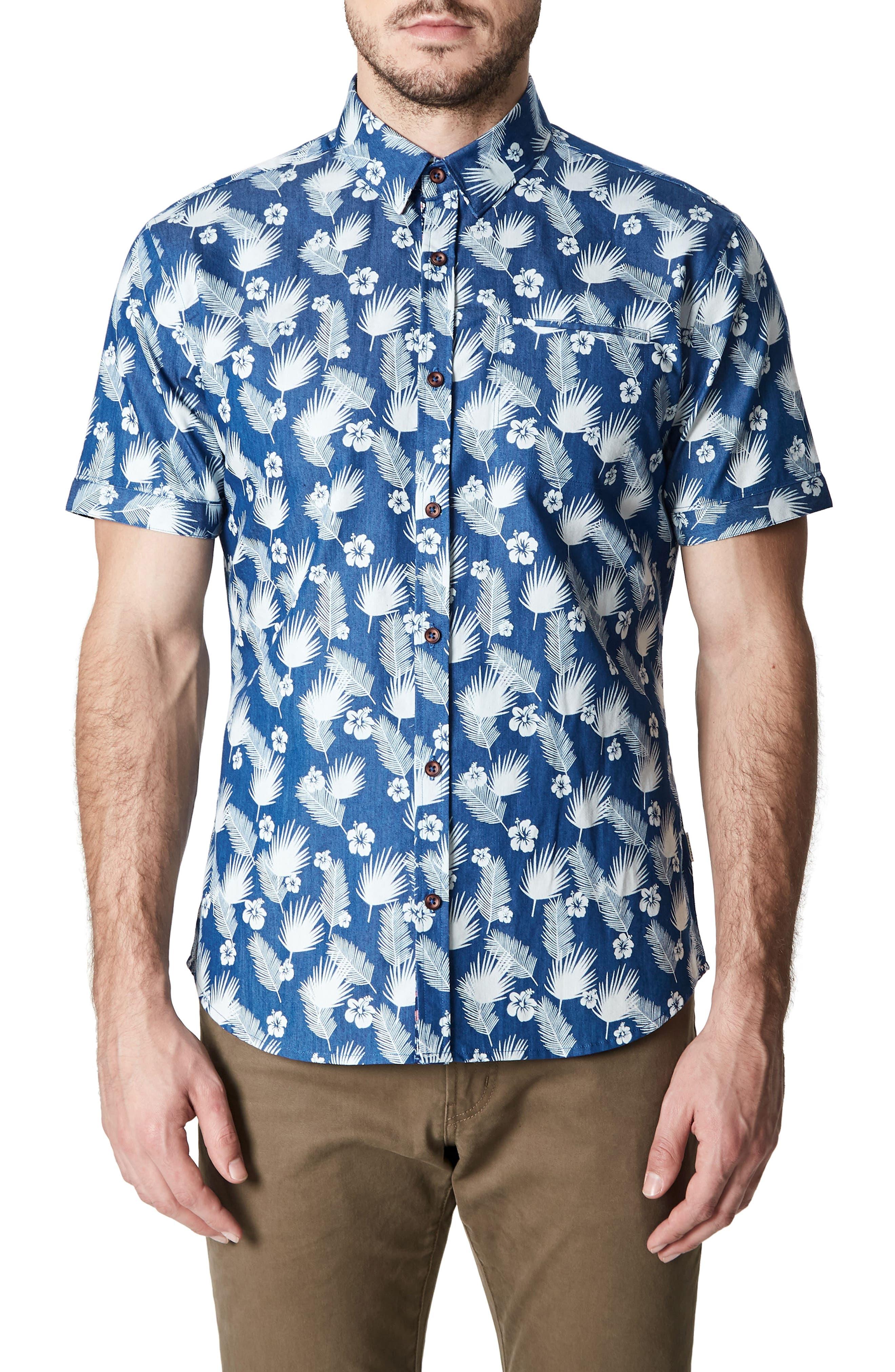 Love Invincible Woven Shirt,                         Main,                         color, Blue
