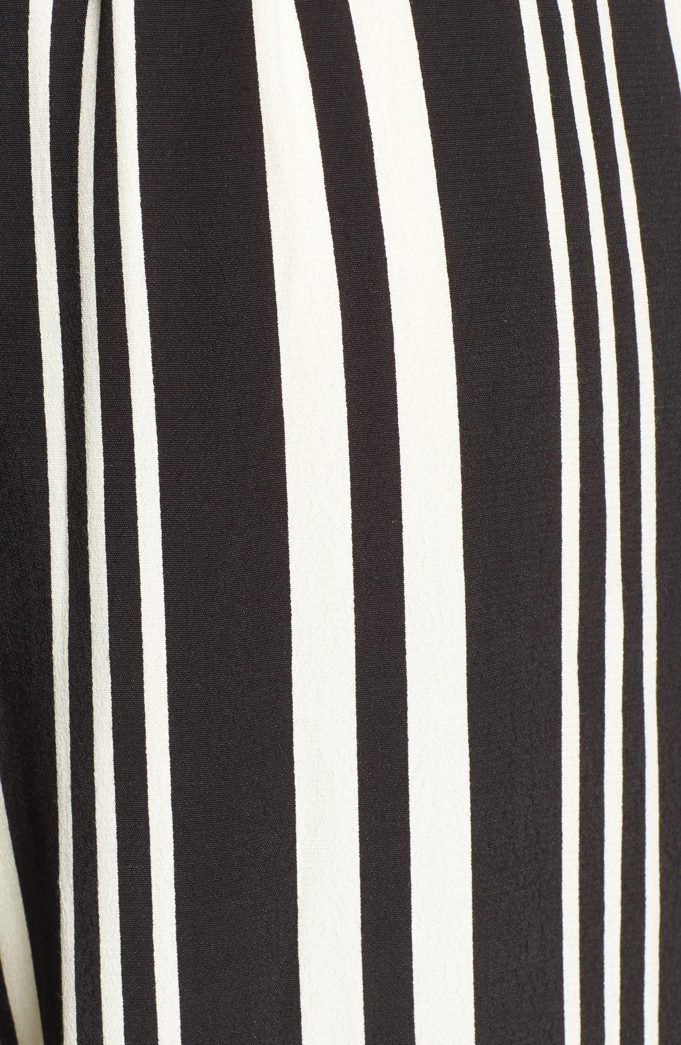 Split Leg Pants,                             Alternate thumbnail 5, color,                             Black Bold Wide Sripe