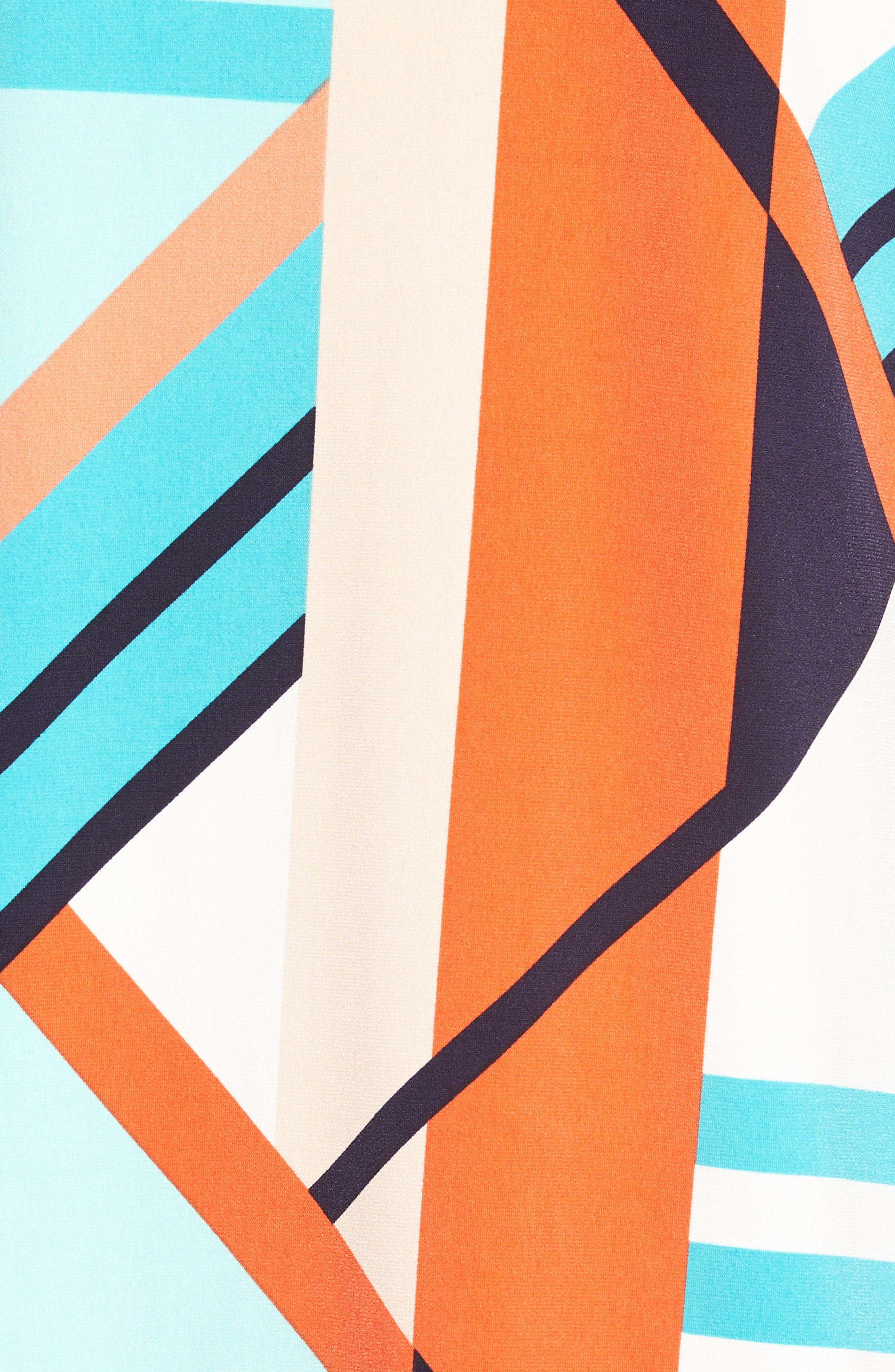 Alternate Image 5  - Chaus Geo Print Split Sleeve Knit Top