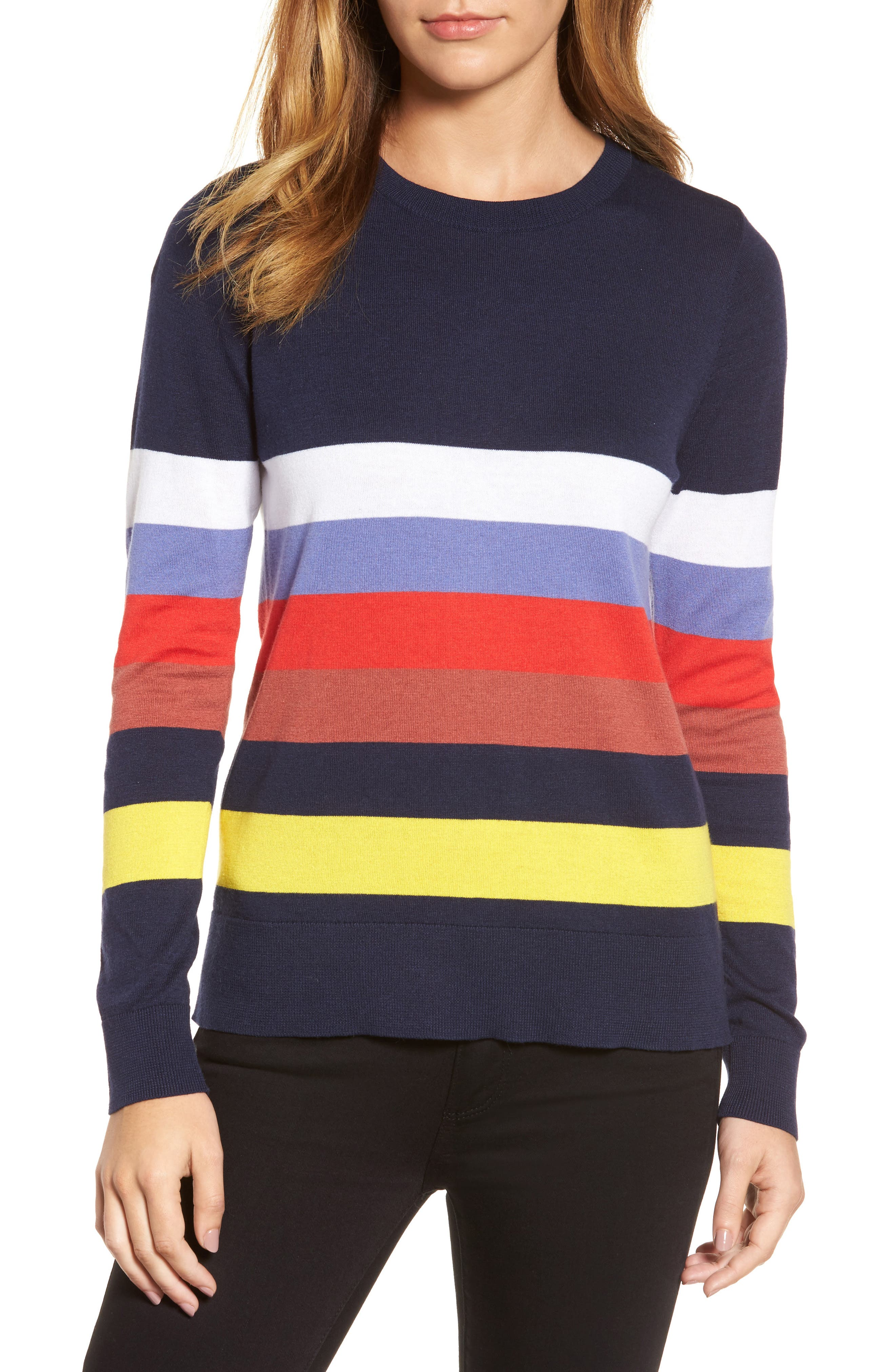 Halogen® Bow Back Sweater (Regular & Petite)