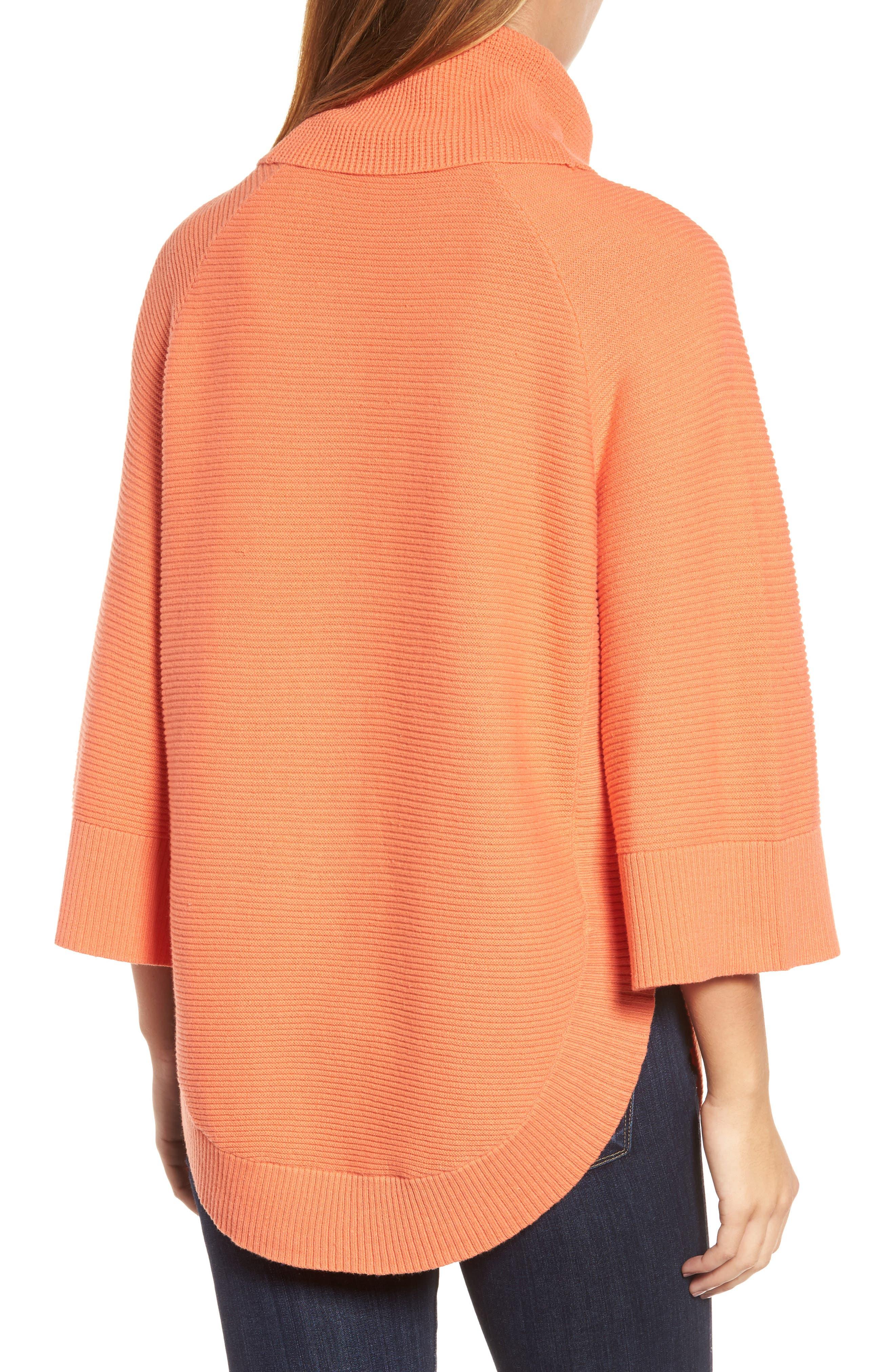 Alternate Image 2  - Chaus Cowl Neck Shirttail Hem Sweater