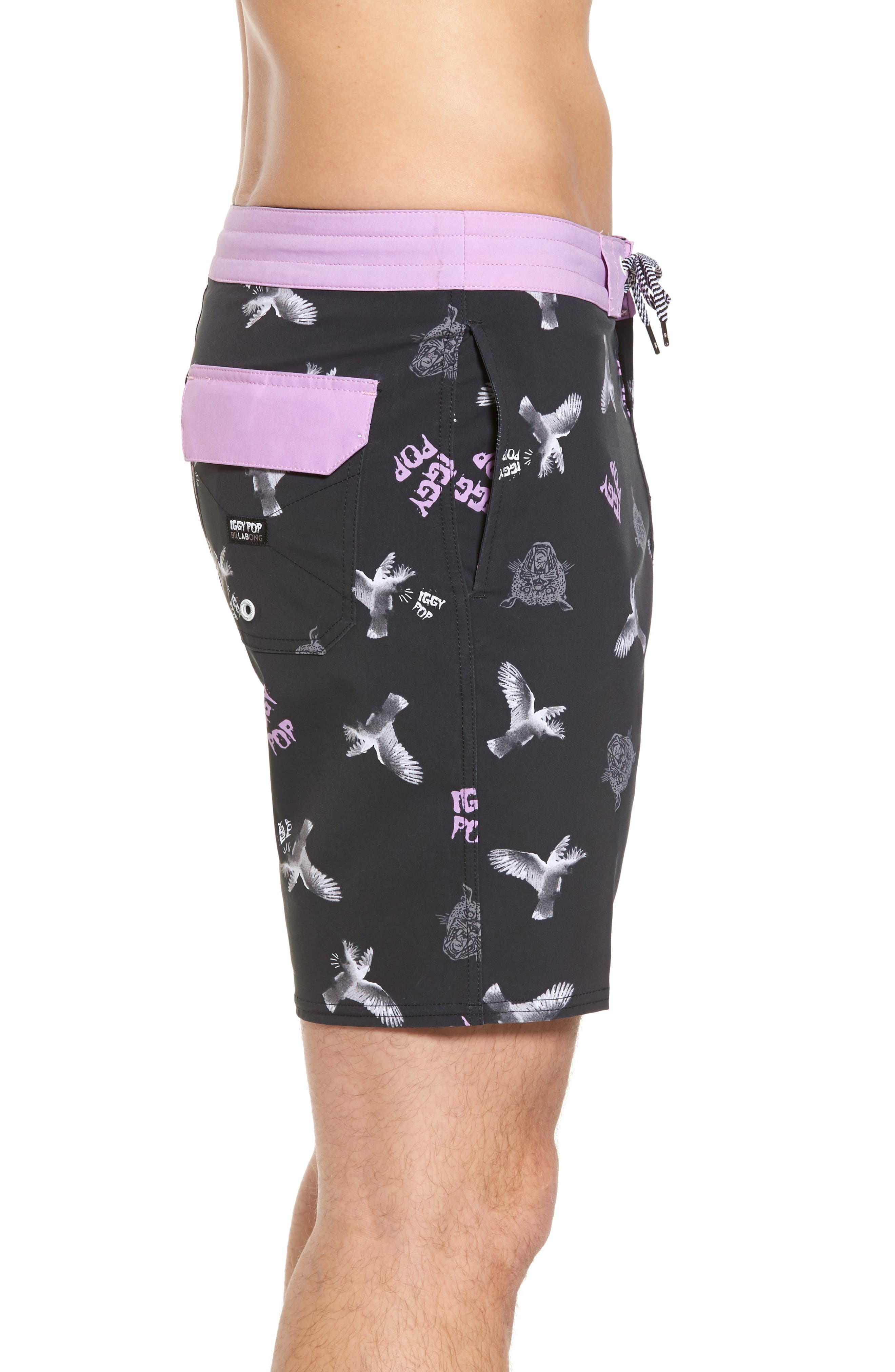 x Iggy Pop Sundays LT Board Shorts,                             Alternate thumbnail 3, color,                             Black