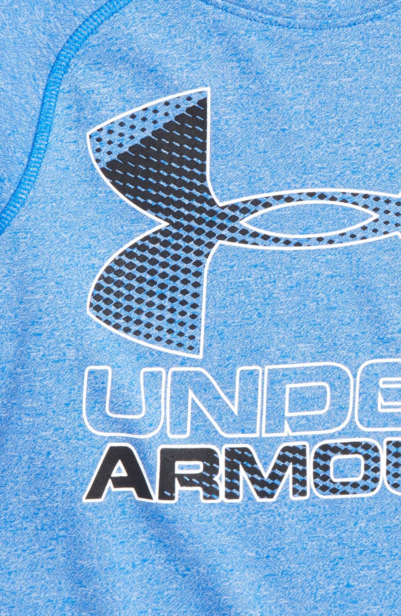 Logo Graphic HeatGear<sup>®</sup> T-Shirt,                             Alternate thumbnail 2, color,                             Ultra Blue/ Black