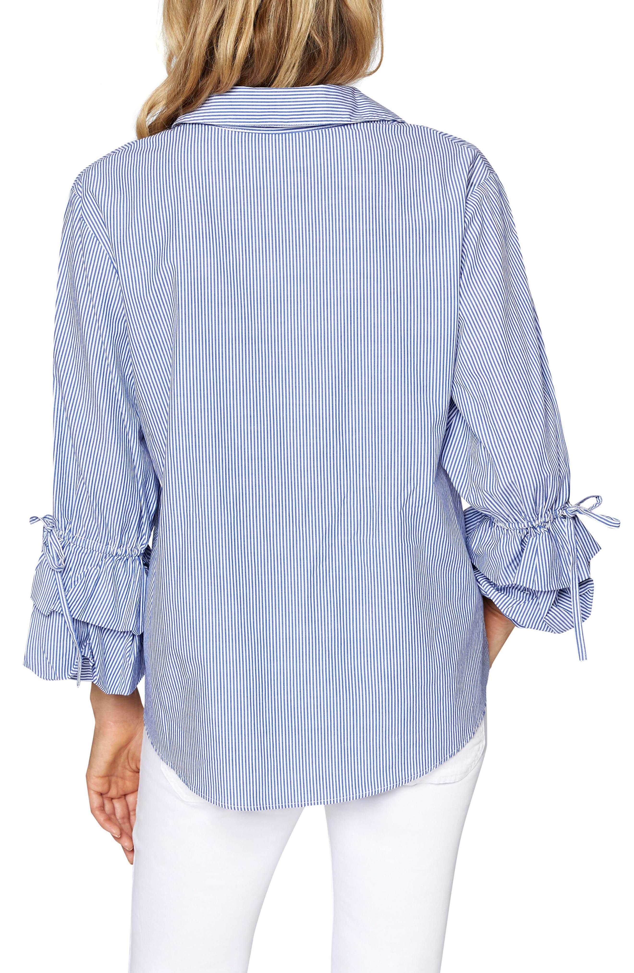 Frankie Ruffle Sleeve Shirt,                             Alternate thumbnail 2, color,                             Core Strp