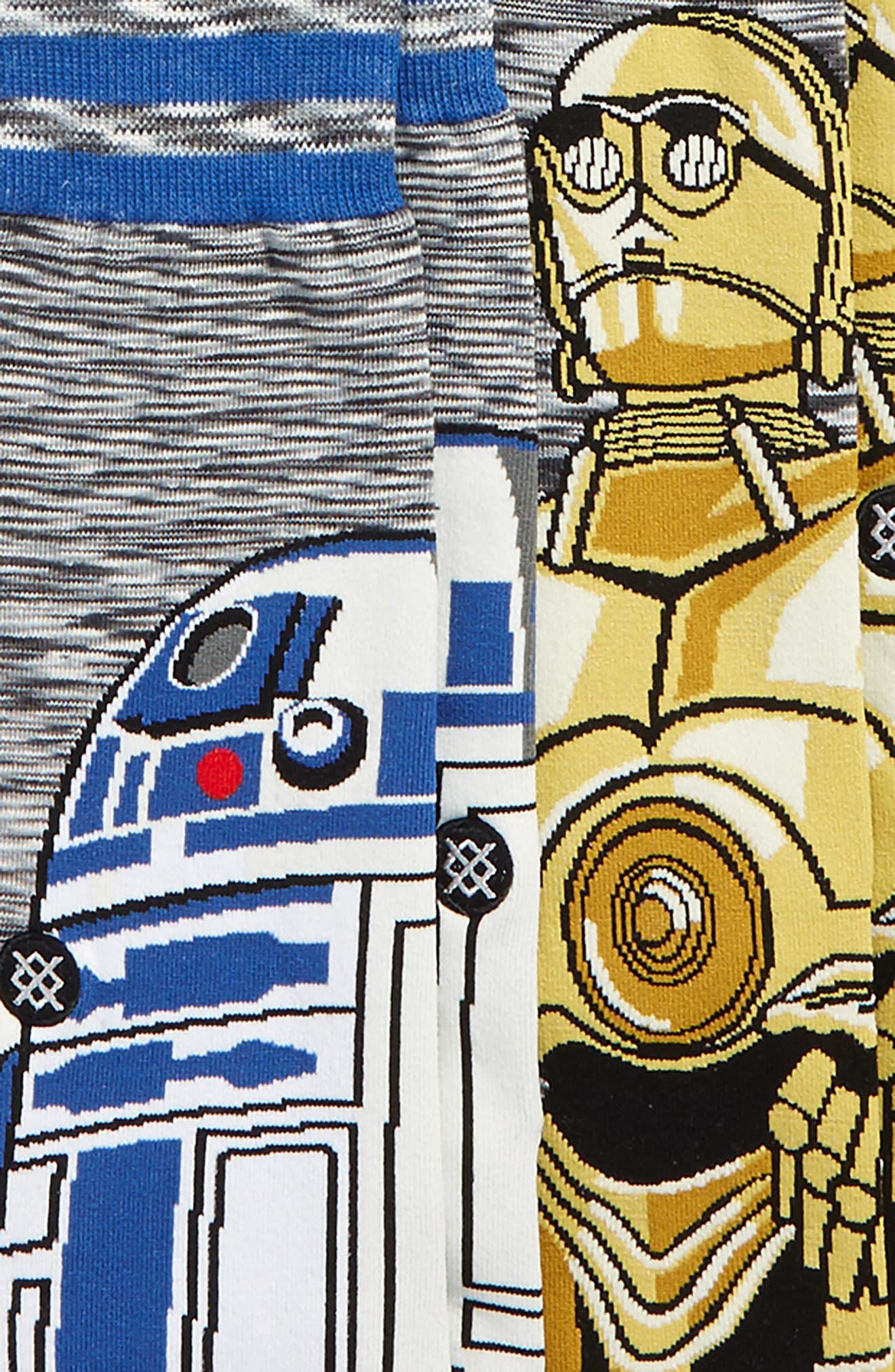 Star Wars<sup>™</sup> 6-Pack Sock Gift Set,                             Alternate thumbnail 3, color,                             Grey Multi