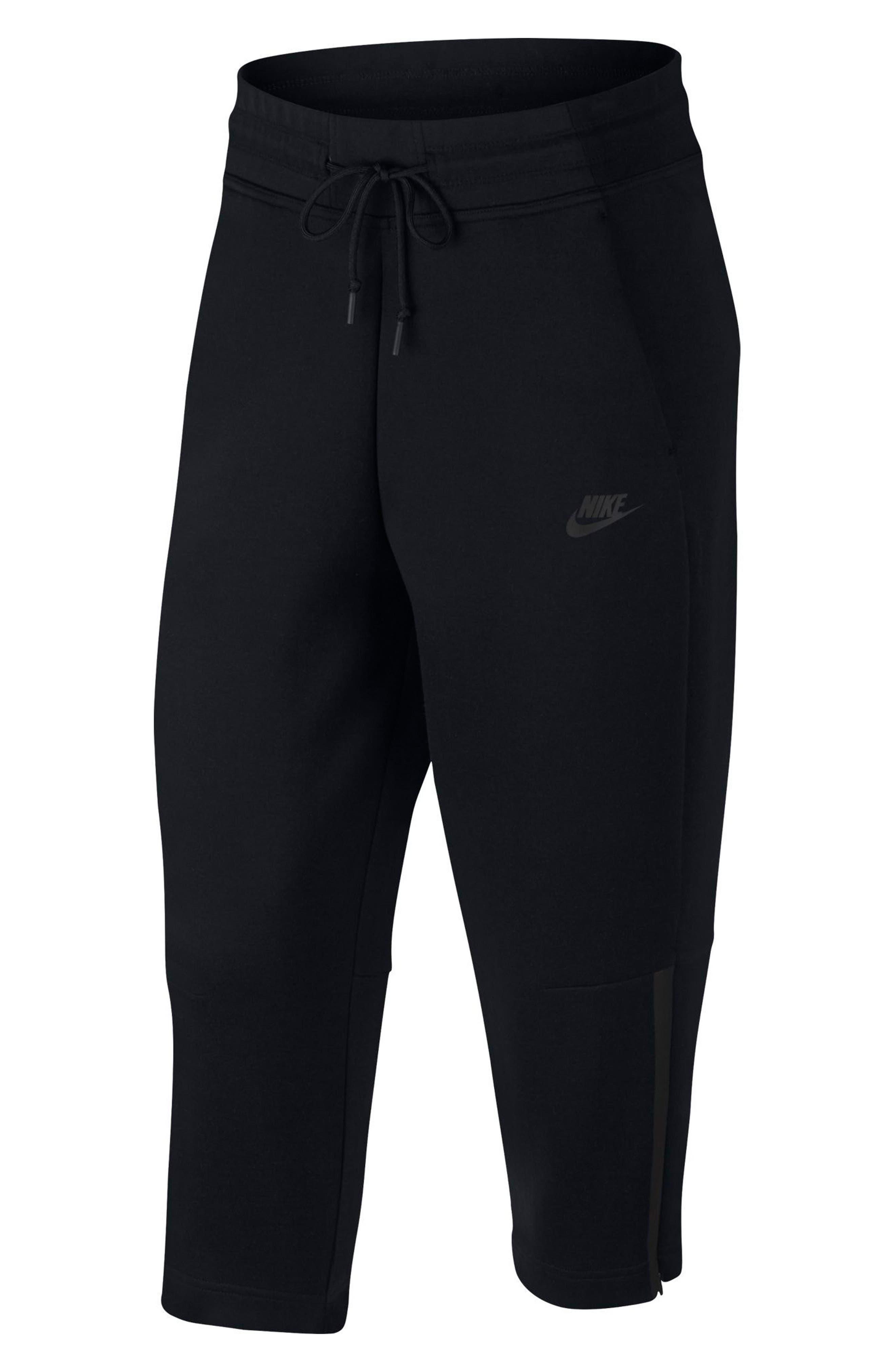Sportswear Women's Tech Fleece Sneaker Pants,                             Alternate thumbnail 8, color,                             Black/ Black
