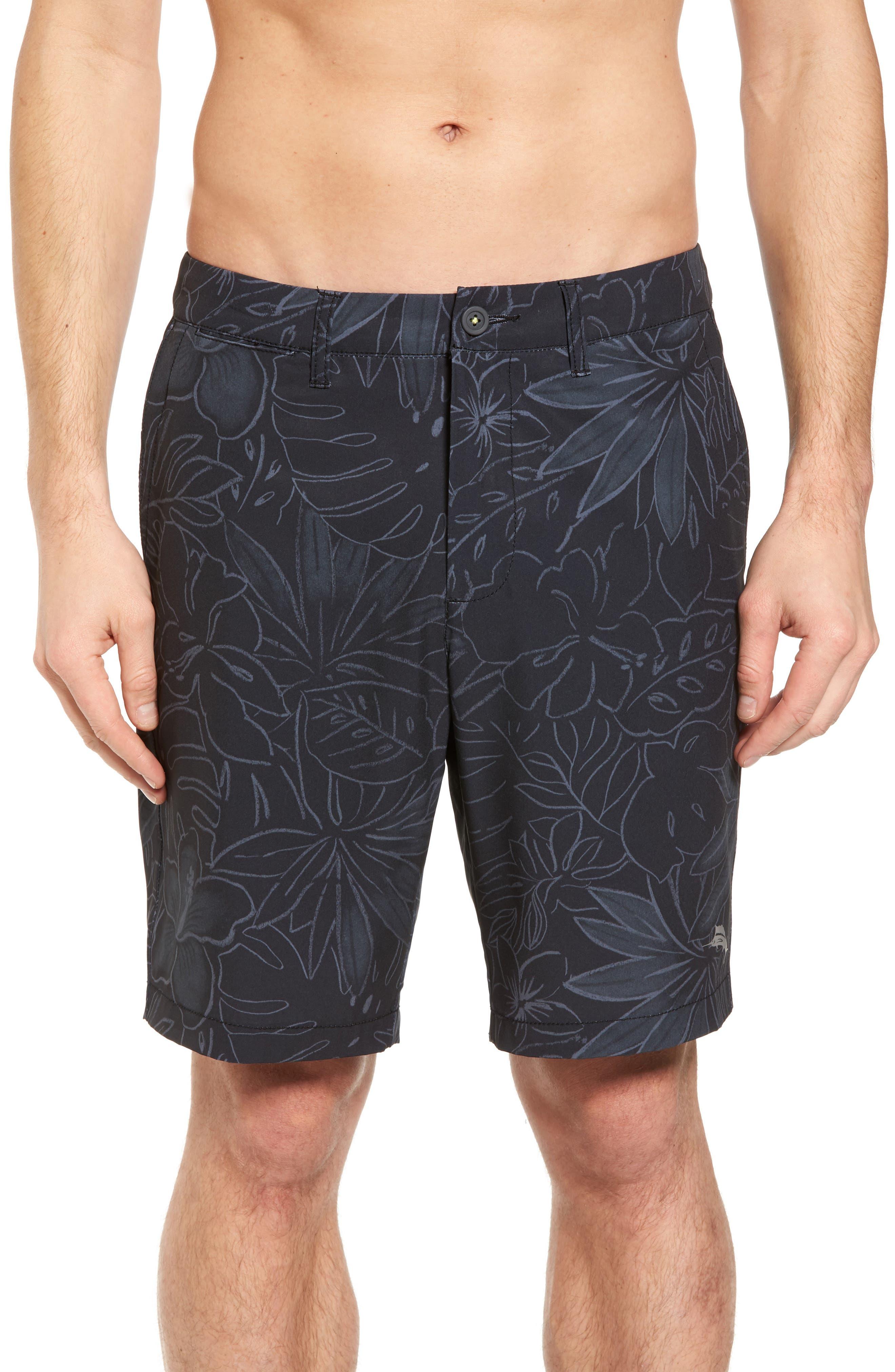 Cayman Sarasota Sketch Swim Trunks,                         Main,                         color, Black