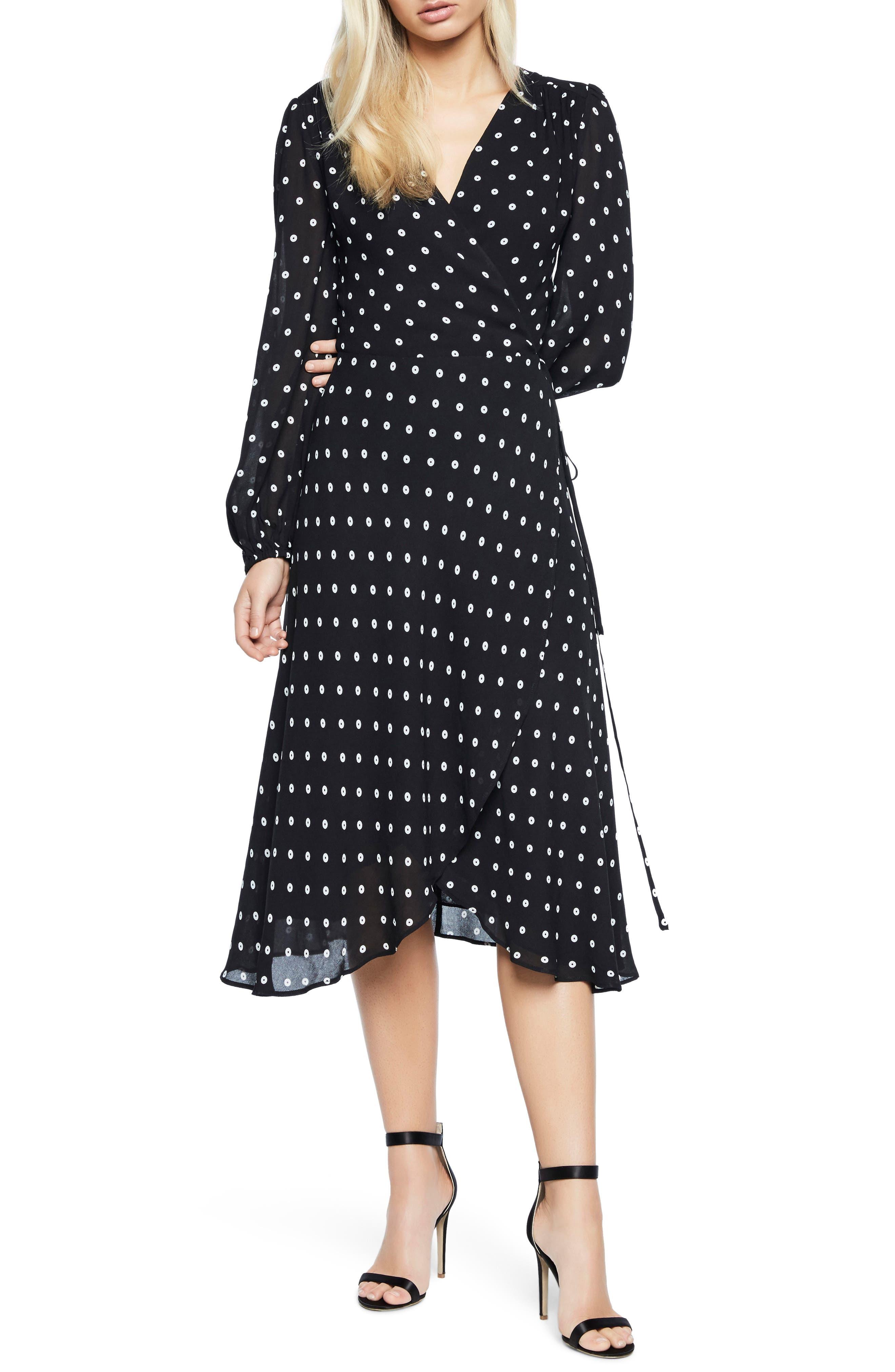 Bardot Betty Midi Wrap Dress