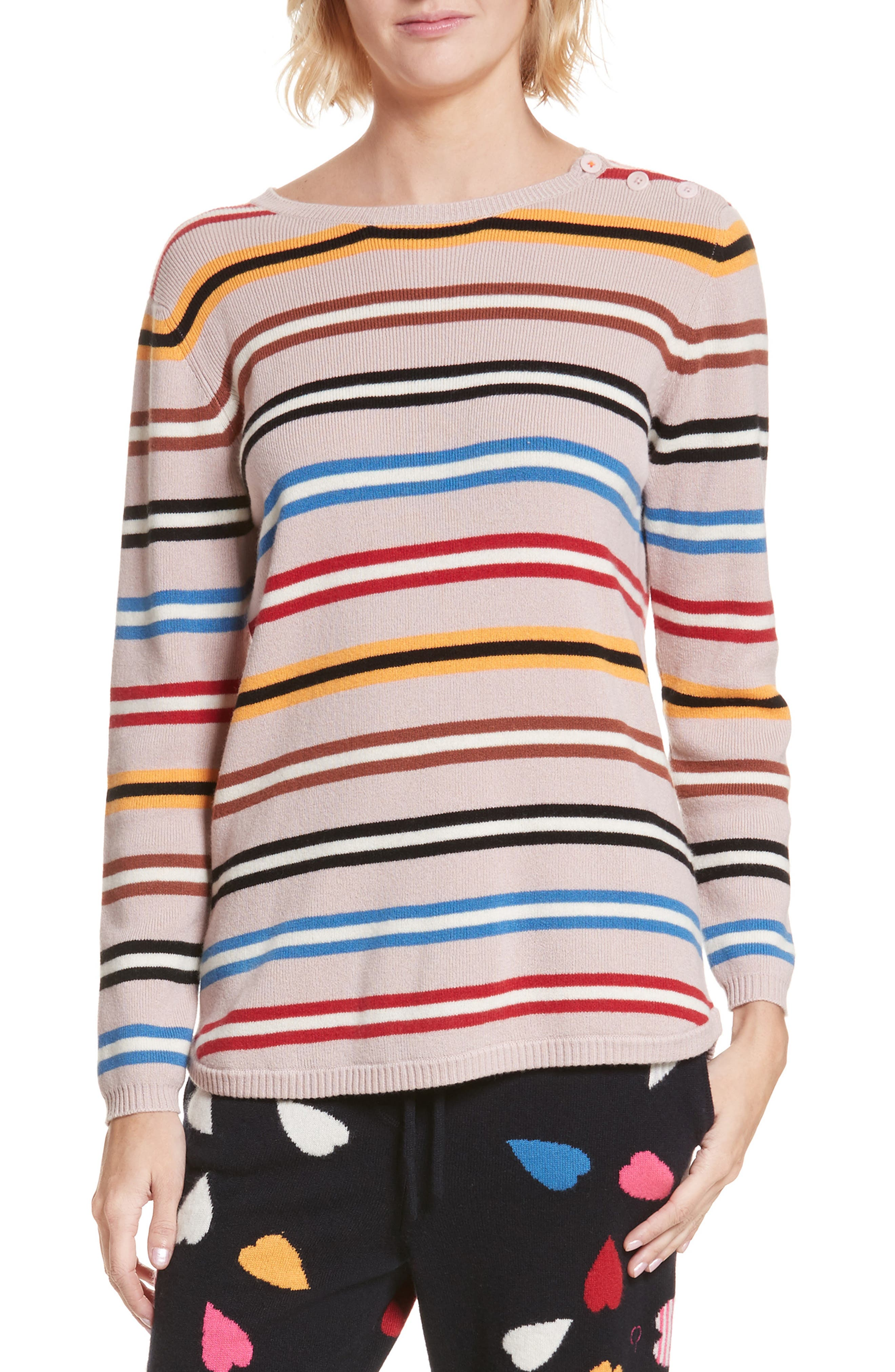 Chinti and Parker Stripe Cashmere Sweater