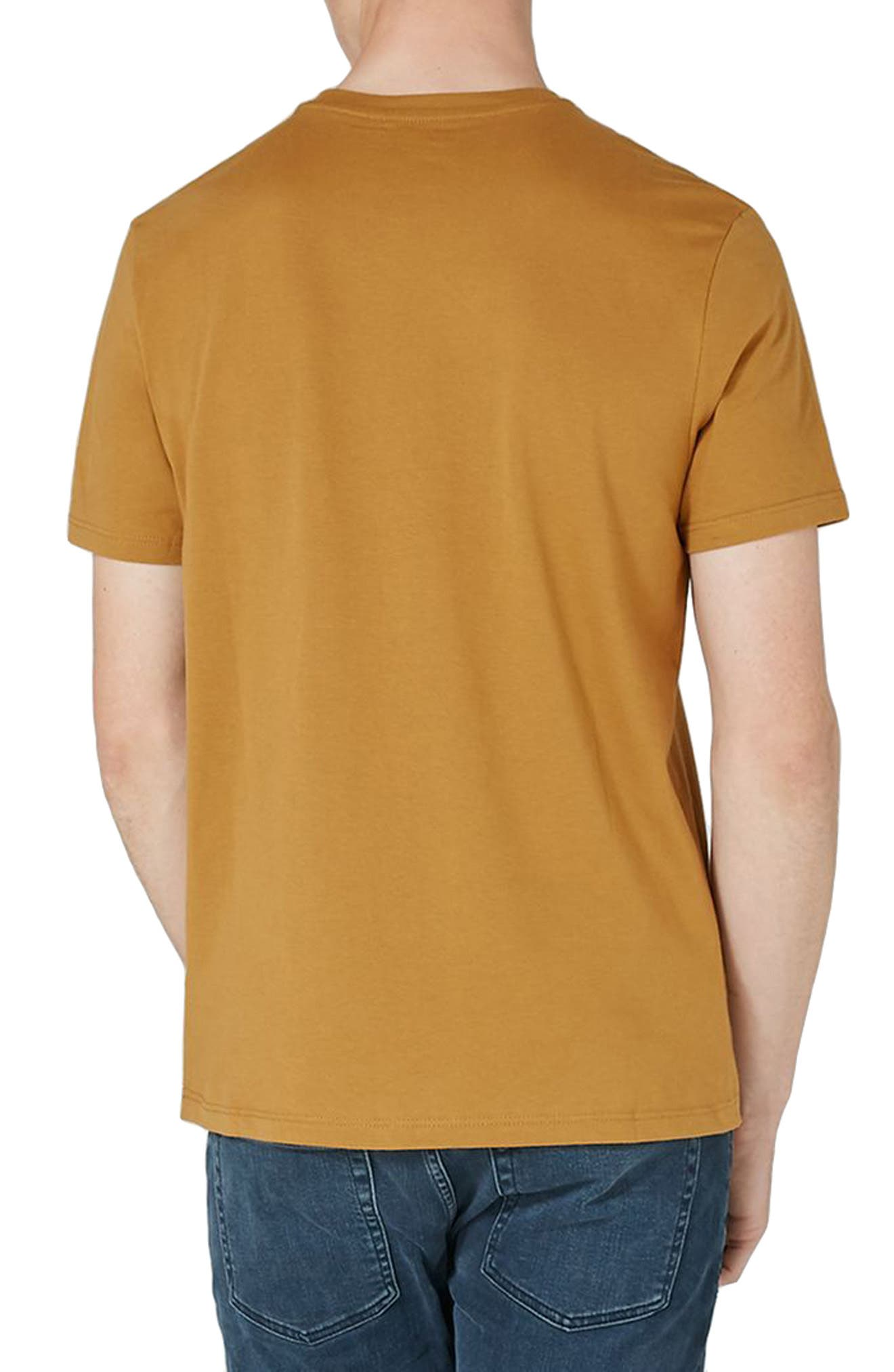 Slim Fit Crewneck T-Shirt,                             Alternate thumbnail 2, color,                             Mustard